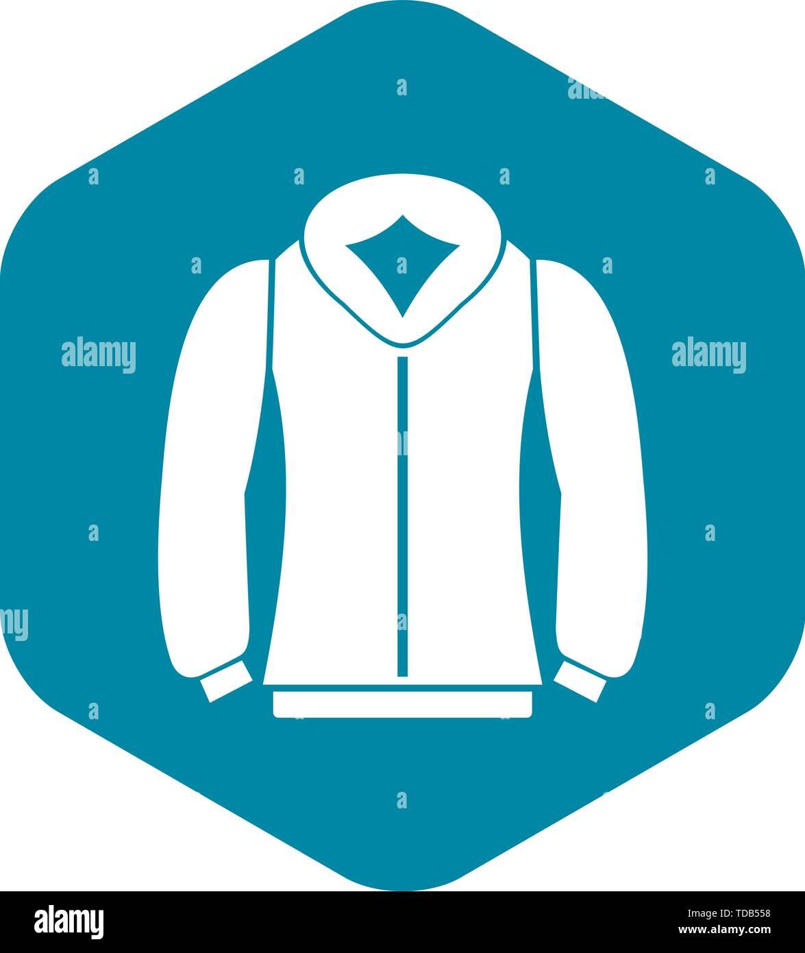 Sweatshirt icon in simple style - Stock Vector