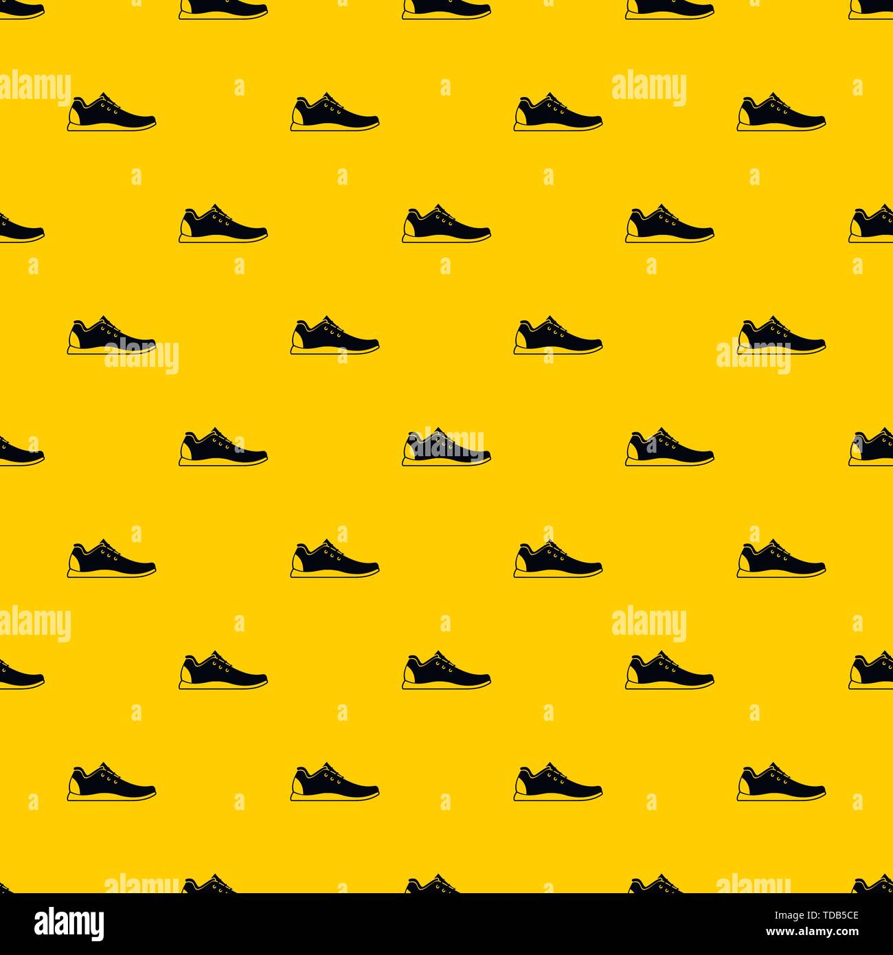 Athletic shoe pattern vector - Stock Image