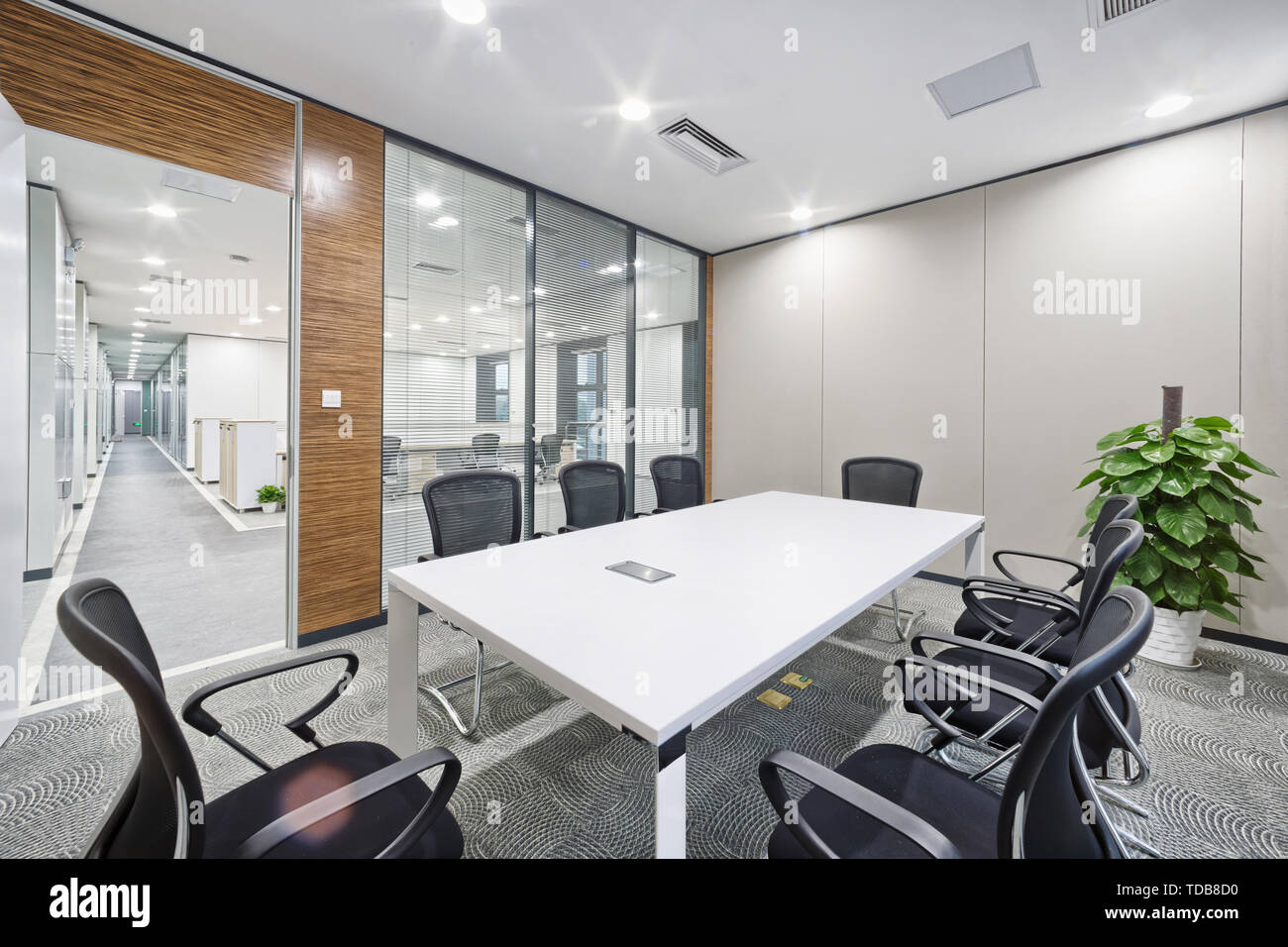 modern office meeting room interior - Stock Image