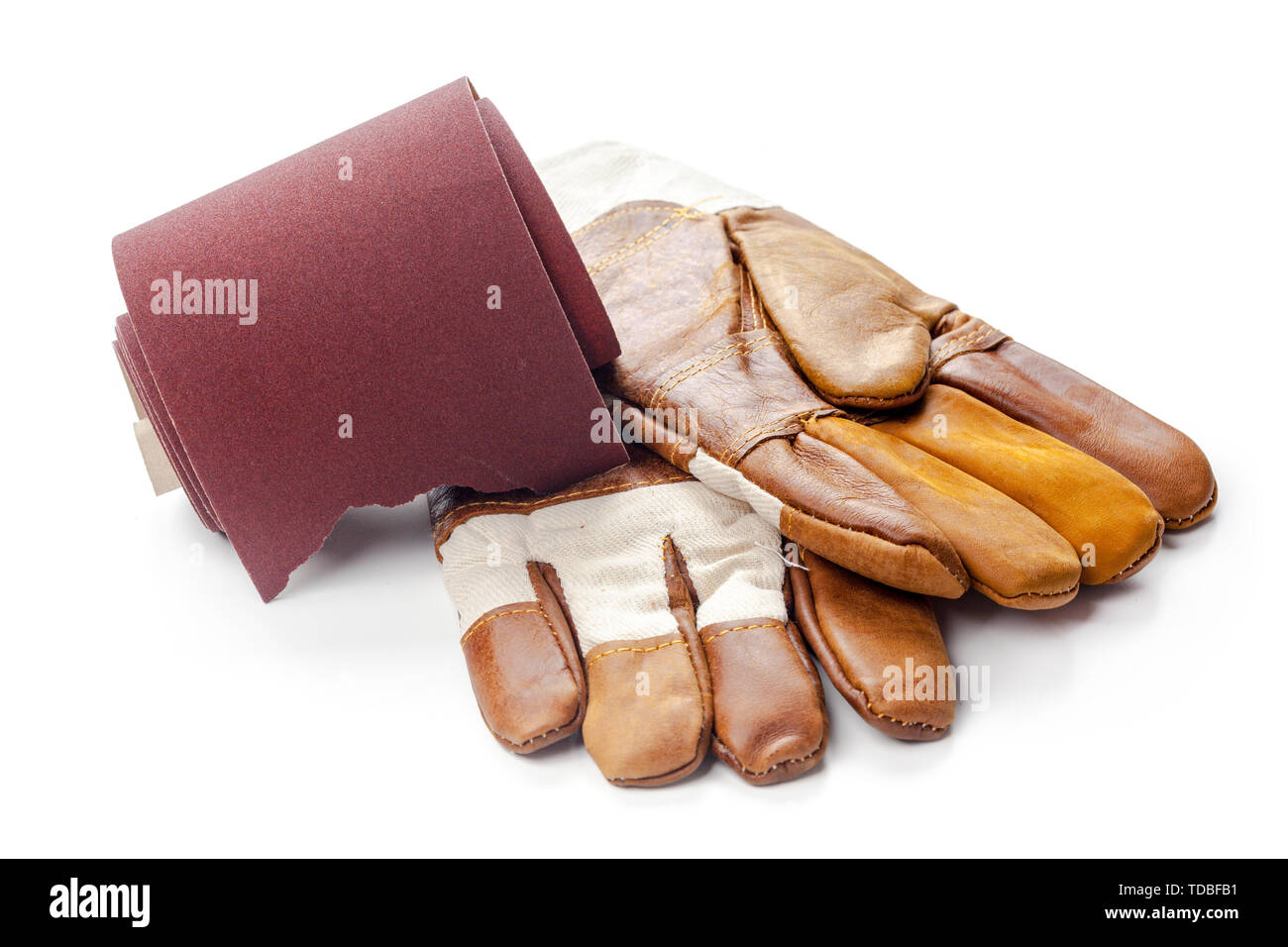 Emery paper - sandpaper - Stock Image