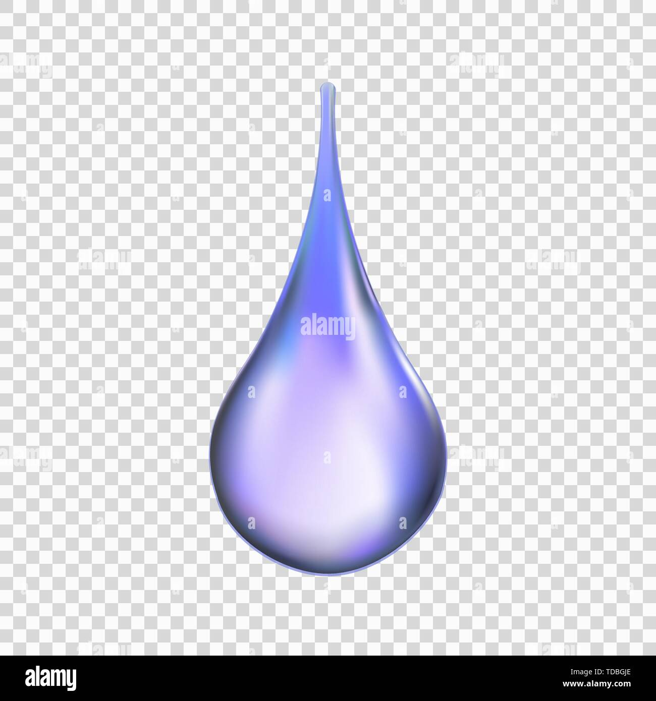 Water drop isolated on transparent background . Template for your design - Stock Image