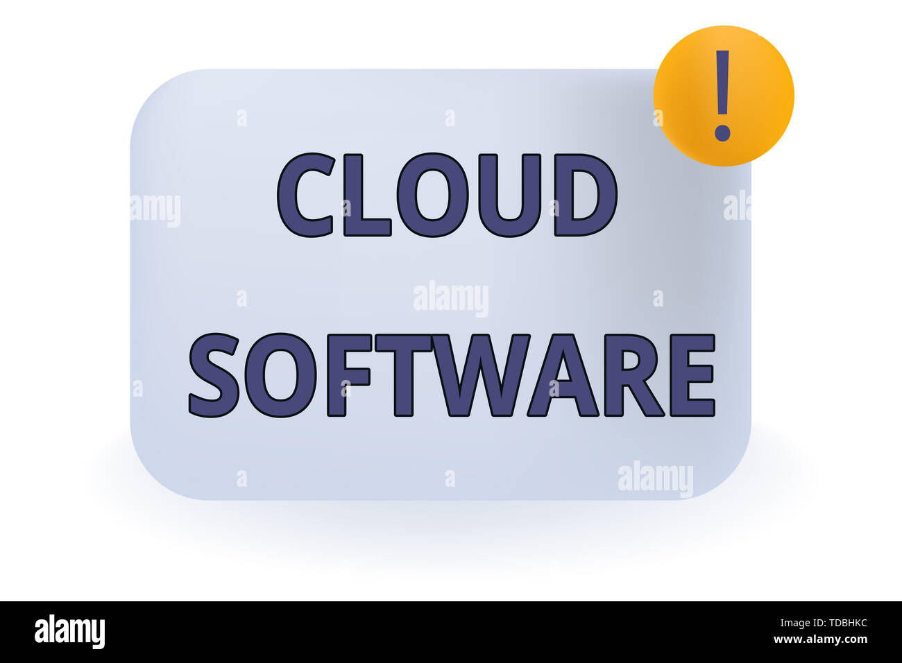 Conceptual hand writing showing Cloud Software. Concept meaning Programs used in Storing Accessing data over the internet Empty Rectangular Shape Text - Stock Image