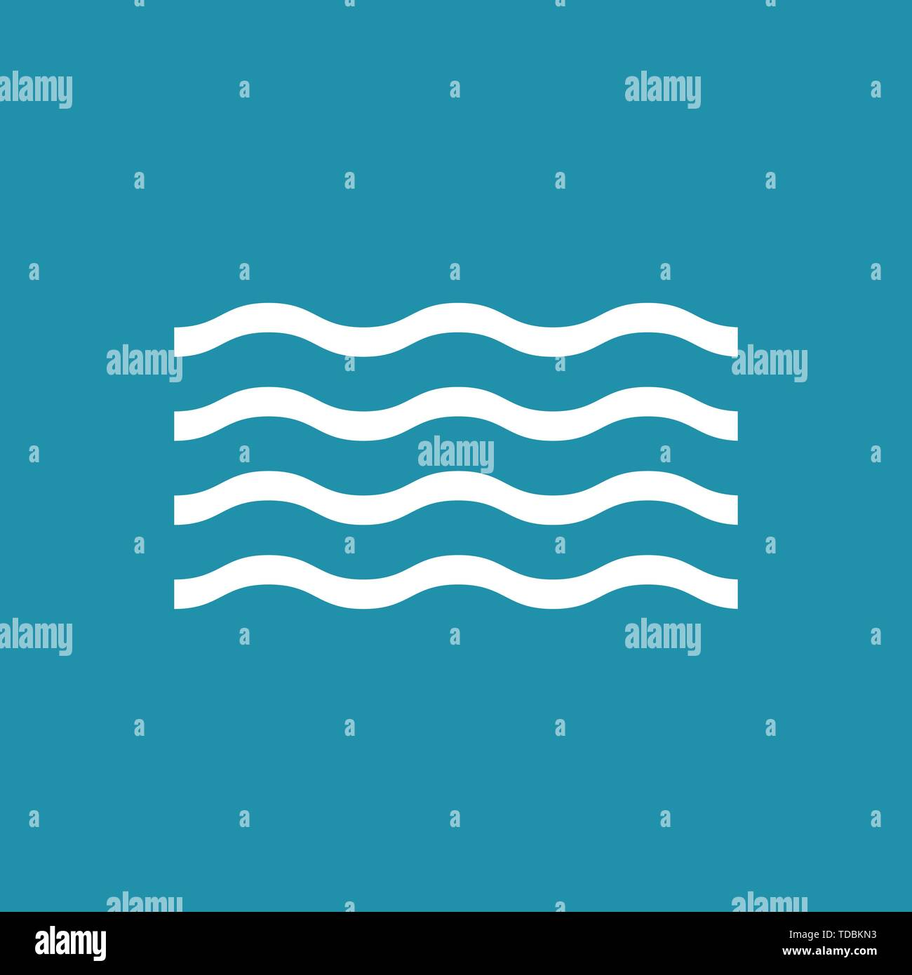 Wave nature flat icon background. Vector eps10 - Stock Image