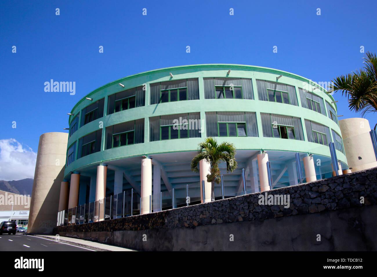 kommunale Mehrzweck-Sportanlage Tazacorte, La Palma, Kanarische Inseln, Spanien - Stock Image