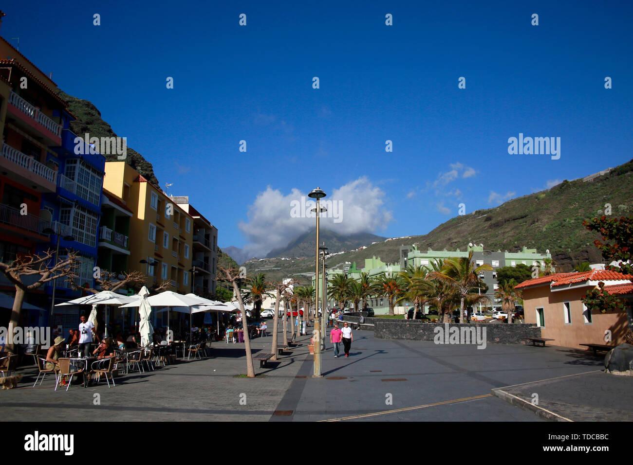 Strand in Puerto de Tazacorte, La Palma, Kanarische Inseln, Spanien Stock Photo