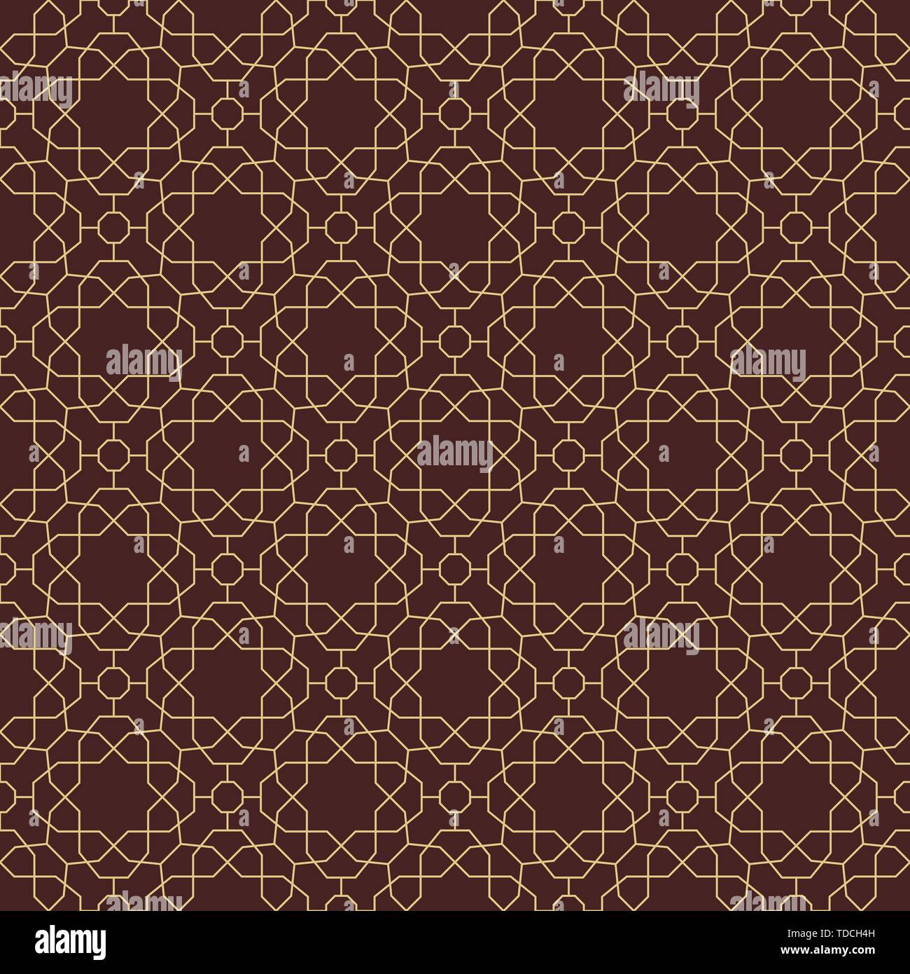 Seamless Geometric Vector Background - Stock Image