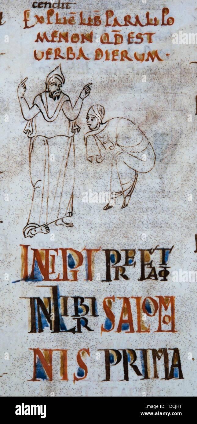 Biblia de Sant Pere de Rodas, siglo XI. Museum: Bibliothèque nationale de France, Paris. - Stock Image
