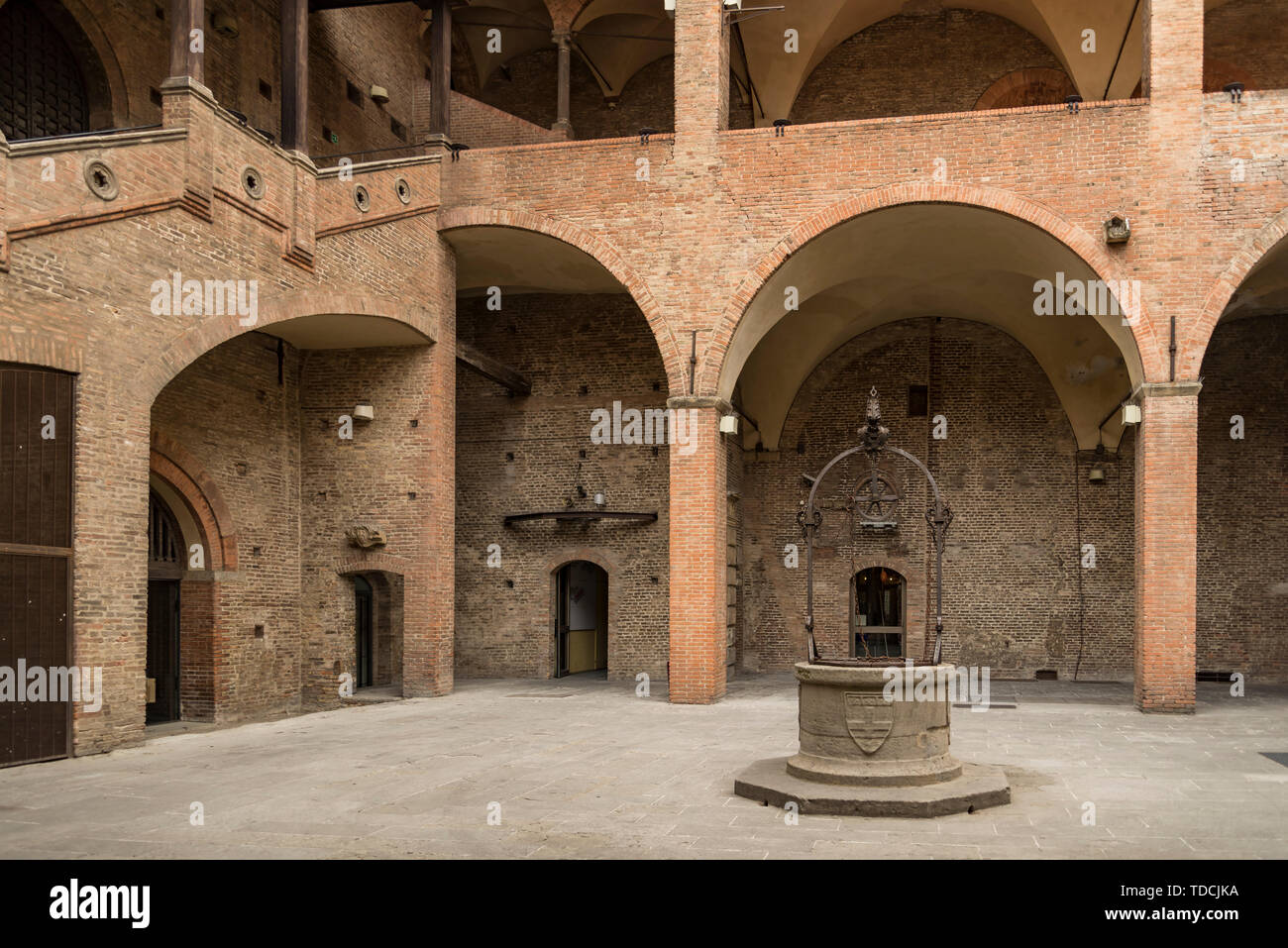 The King Enzo palace in Maggiore square, Bologna, Italy Stock Photo