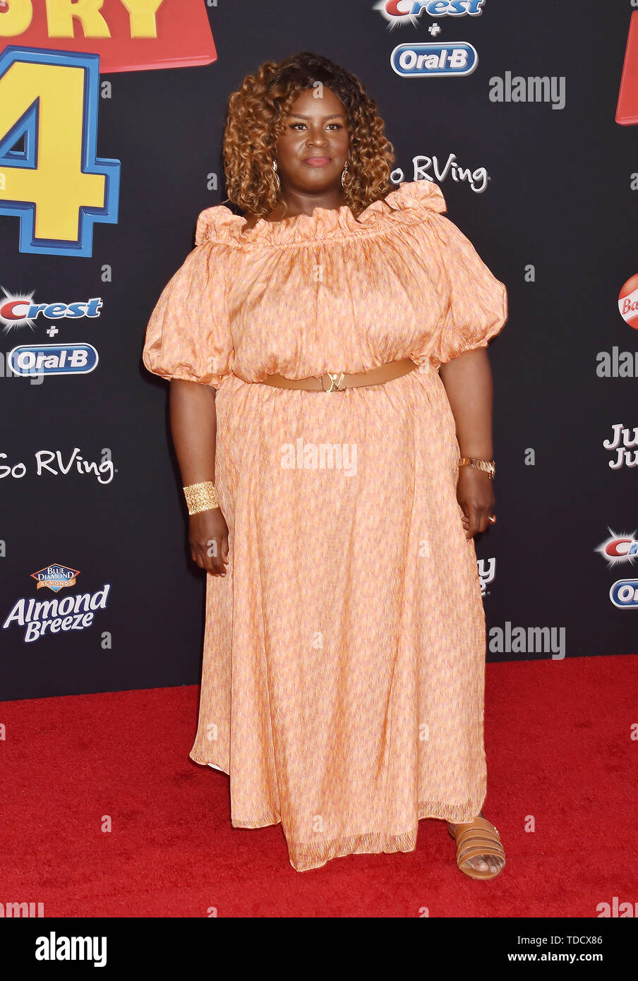 HOLLYWOOD, CA - JUNE 11: Retta arrives at the premiere of Disney and Pixar's 'Toy Story 4' at the El Capitan Theatre on June 11, 2019 in Los Angeles, California. - Stock Image