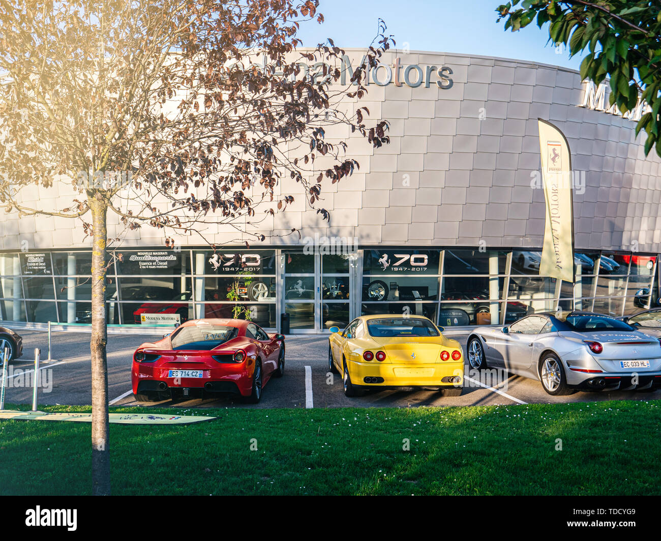 Ferrari Car Showroom In High Resolution Stock Photography And Images Alamy
