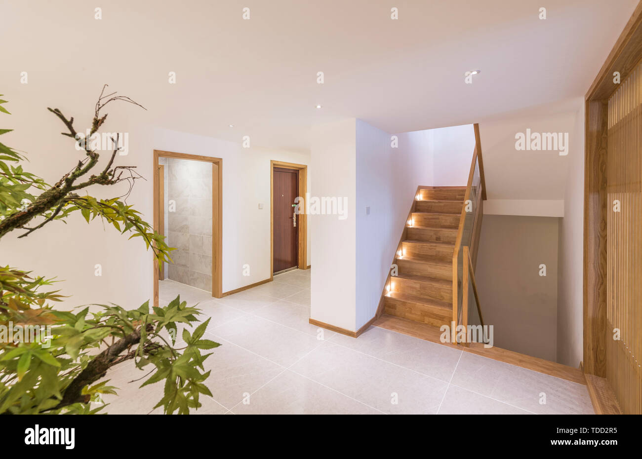 Modern Home Model Room Space Design Corridor Hall Hd Picture Stock