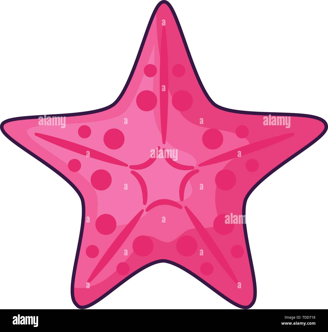cute starfish animal isolated icon vector illustration design - Stock Image