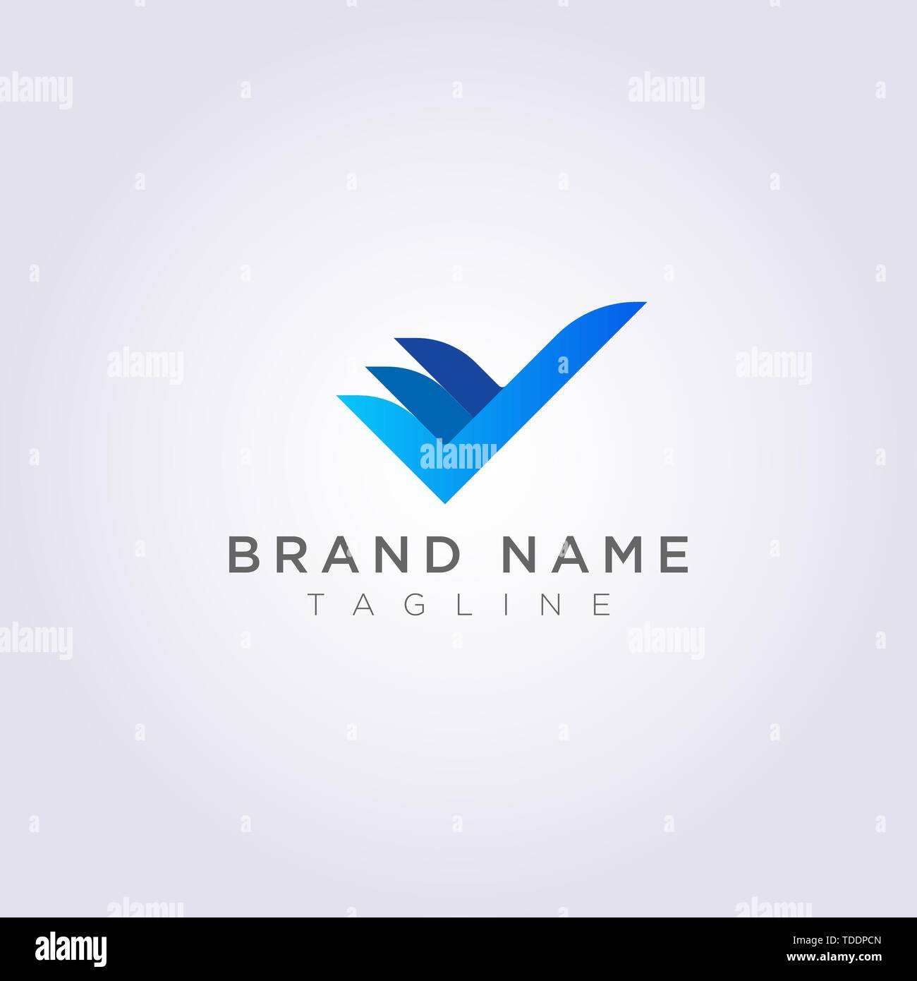 Creative Check Logo Design for your Business or Brand. Stock Vector