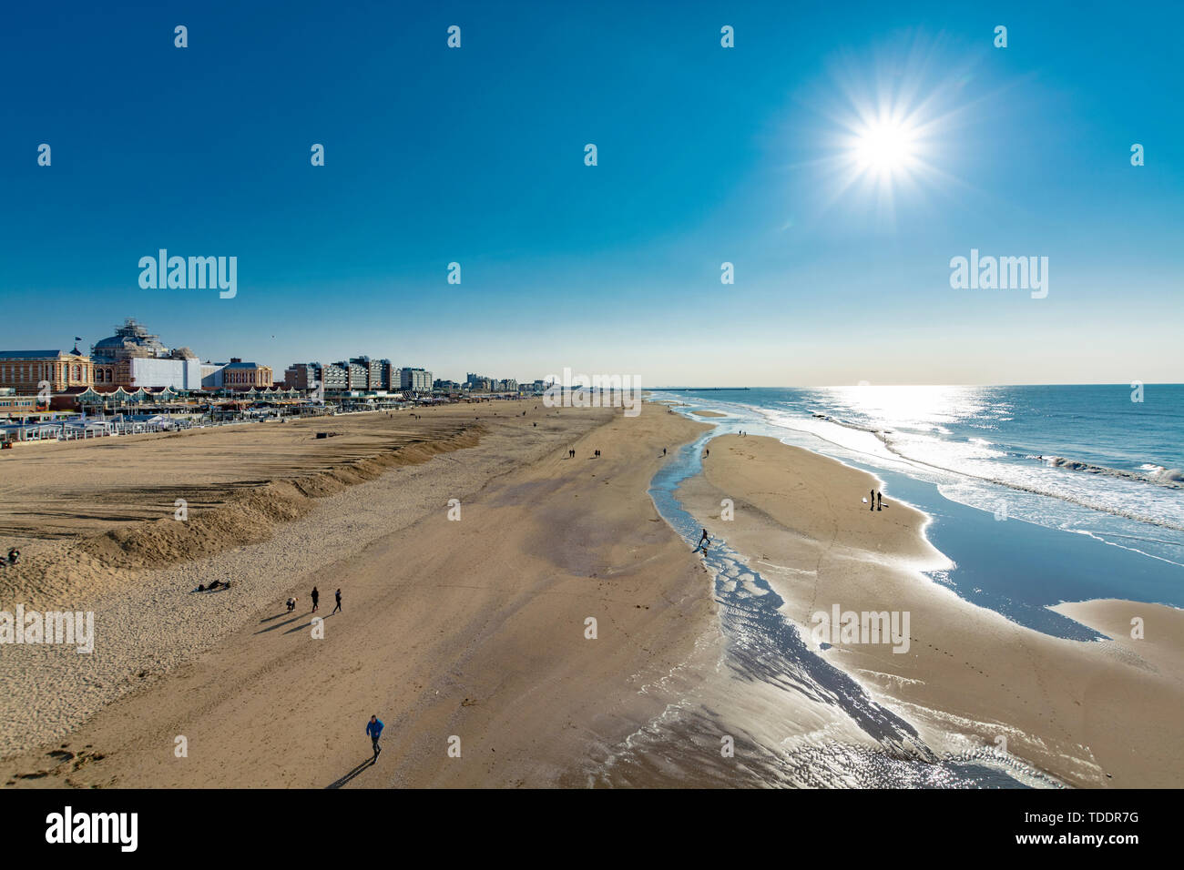 Sunny Day On North Sea Beach In Netherlands In Schegeningen Tourist And Vacation Destination In Europe Stock Photo Alamy