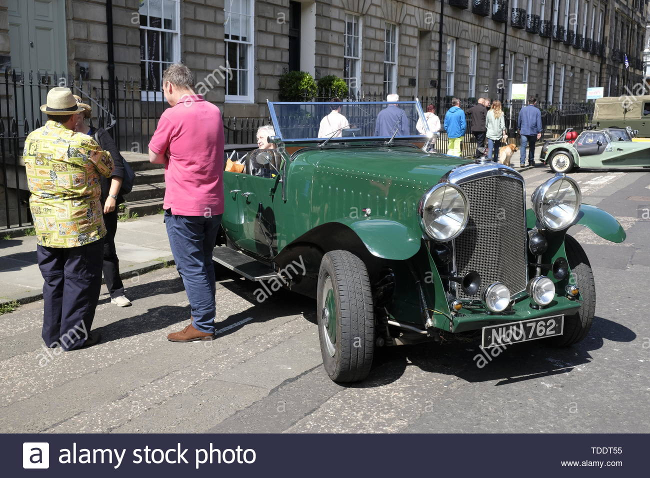Classic Bentley car from 1920s on display at the West End Classic Vehicle event in Edinburgh, Scotland - Stock Image