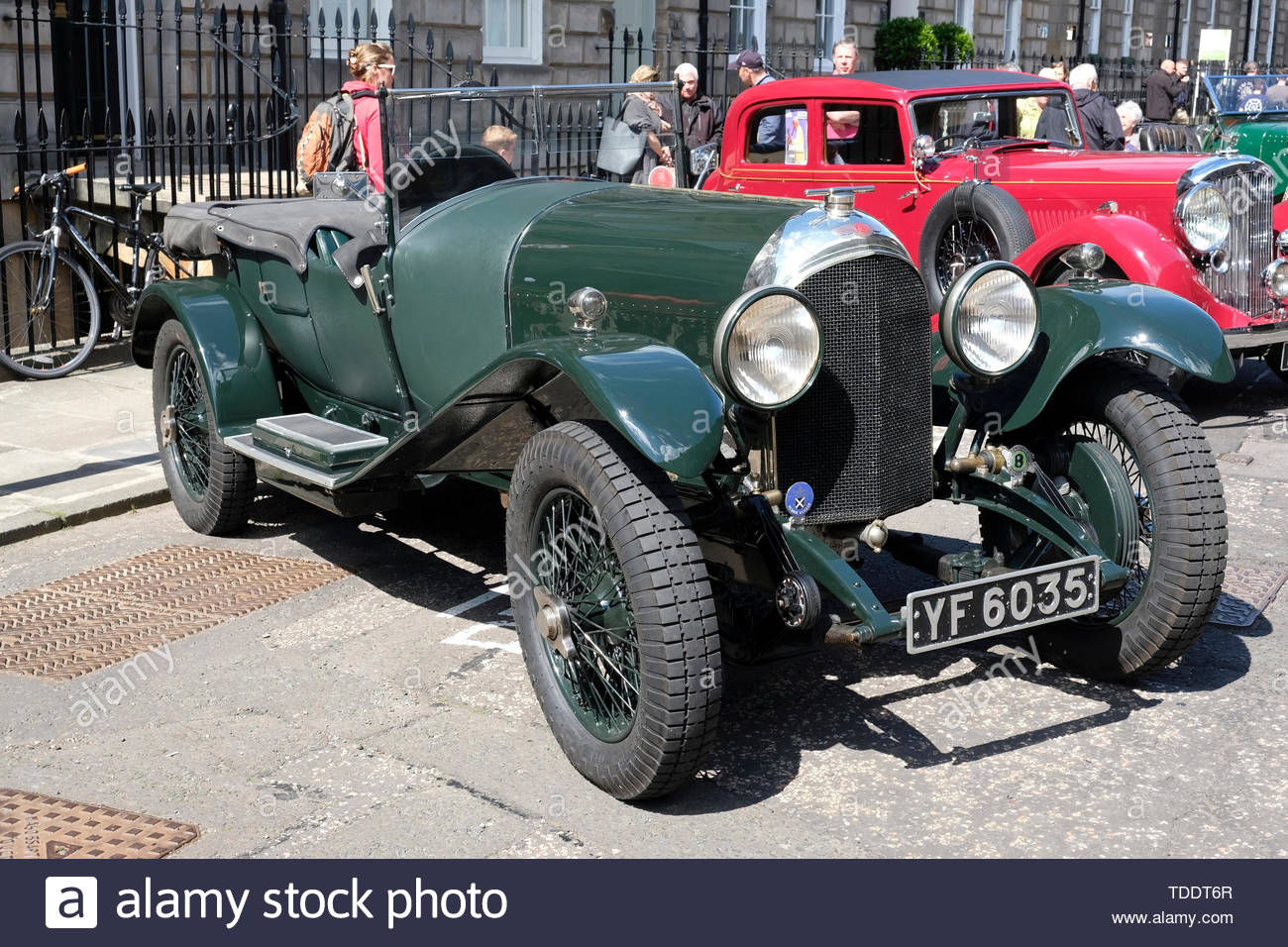 Classic Bentley from 1927 on display at the West End Classic Vehicle event in Edinburgh, Scotland - Stock Image