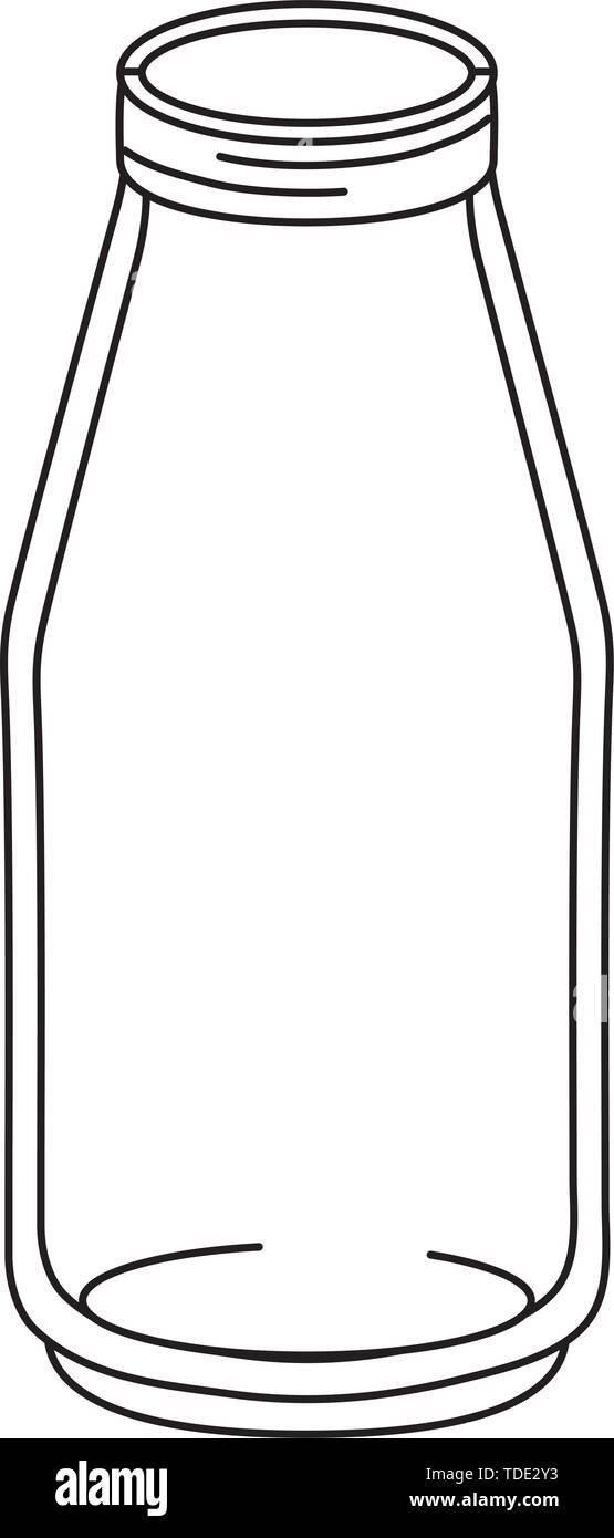 glass bottle mason jar cartoon vector illustration graphic design - Stock Image