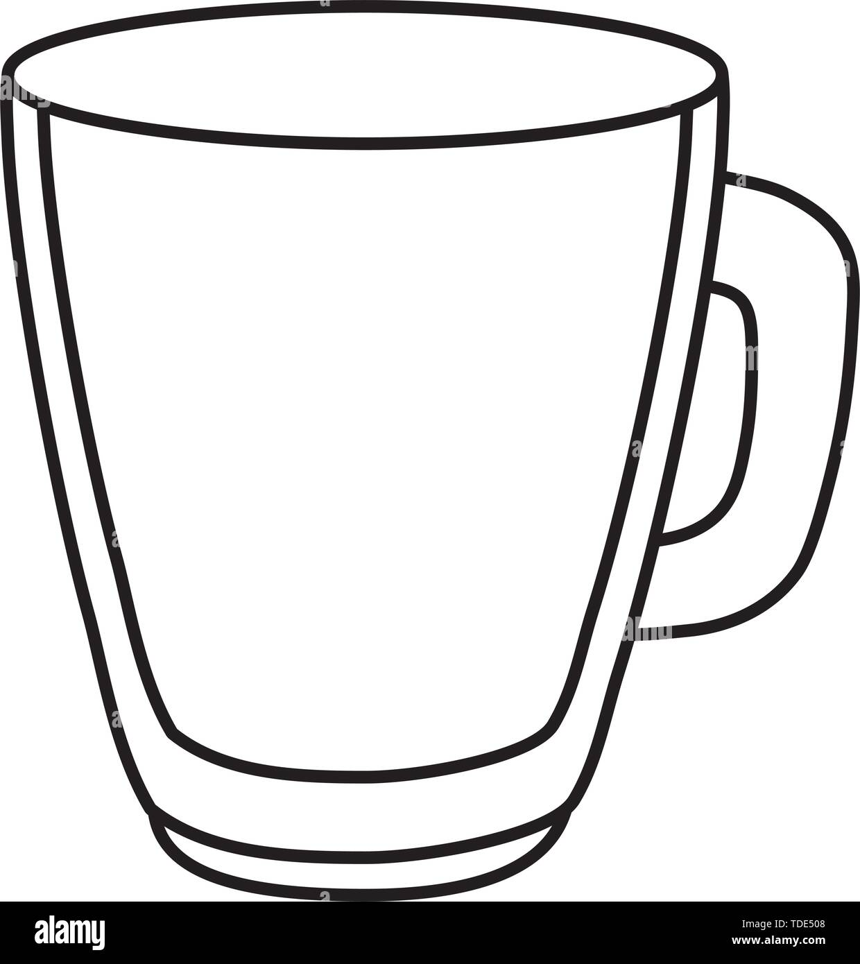 glass cup cartoon vector illustration graphic design - Stock Image