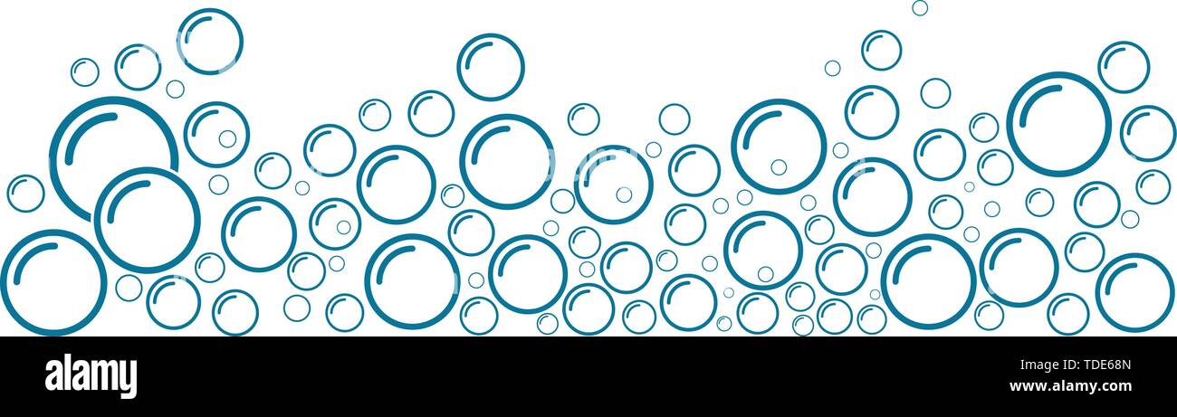 Bubble water vector illustration design template - Stock Image
