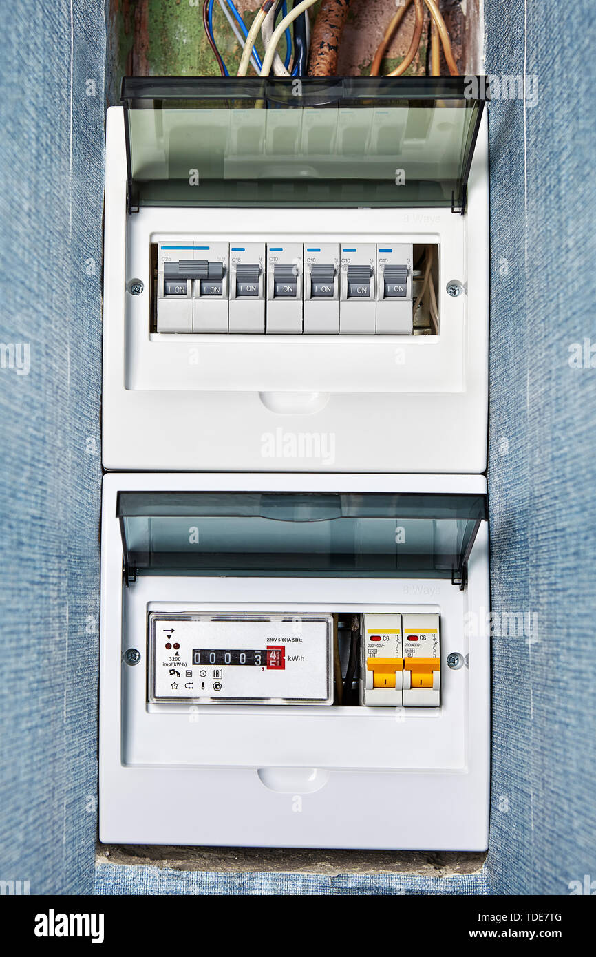 Electrical Distribution Board Stock Photos & Electrical Distribution on