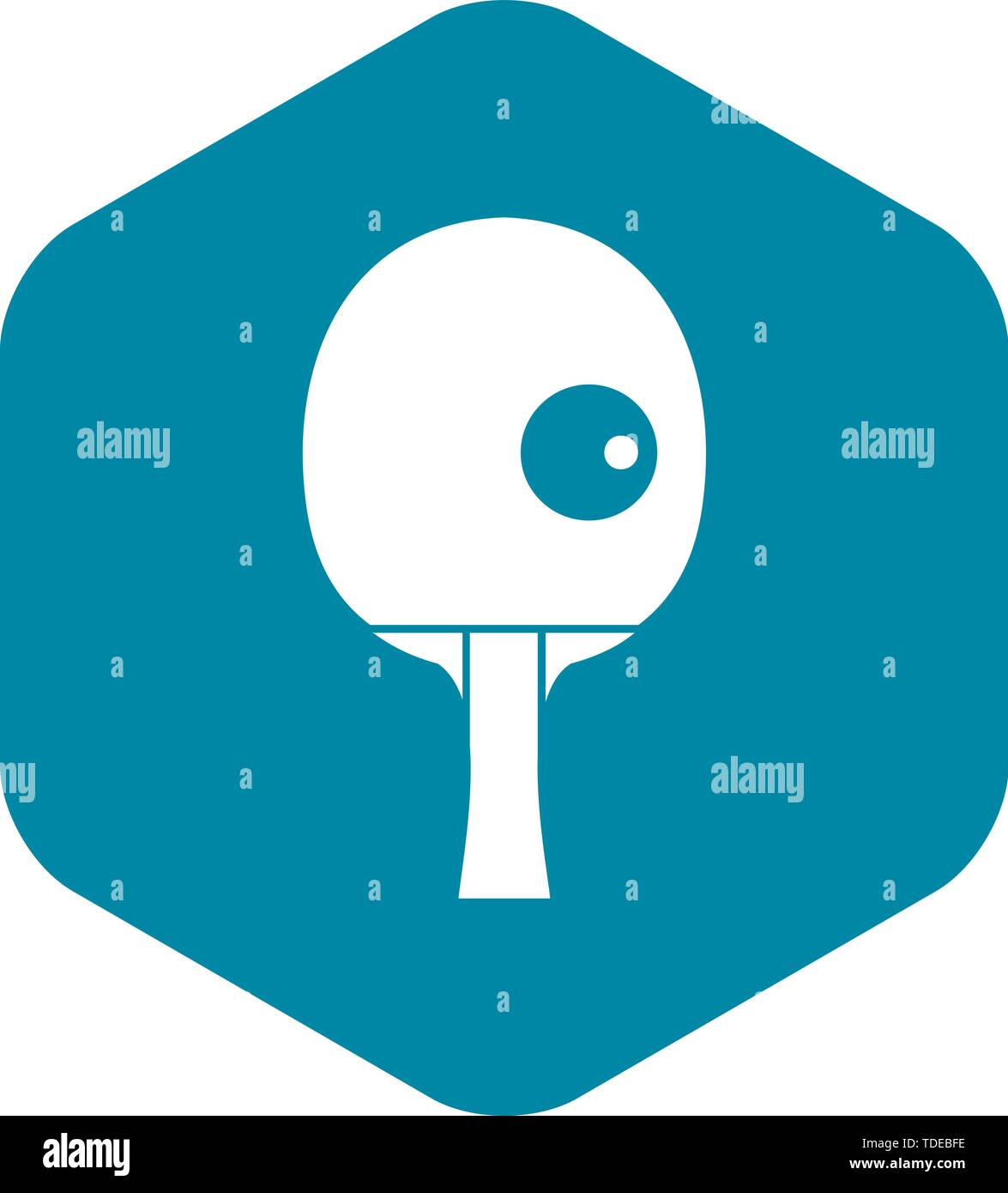 Rackets and ball for playing table tennis icon - Stock Vector