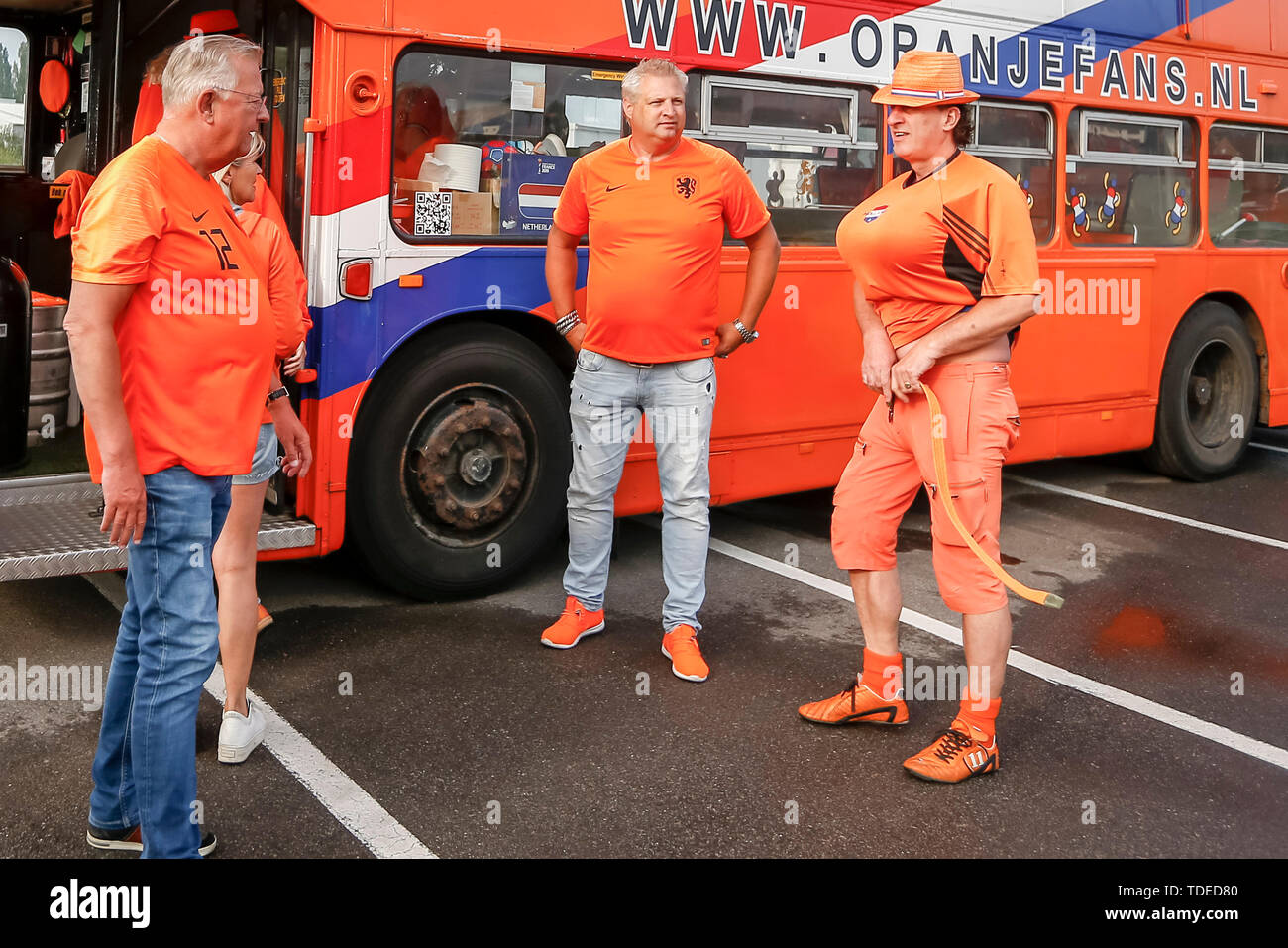 VALENCIENNES, 15-06-2019 ,, World championship 2019 , fans on their way to Valenciennes ,  fans on their way to Valenciennes - Stock Image