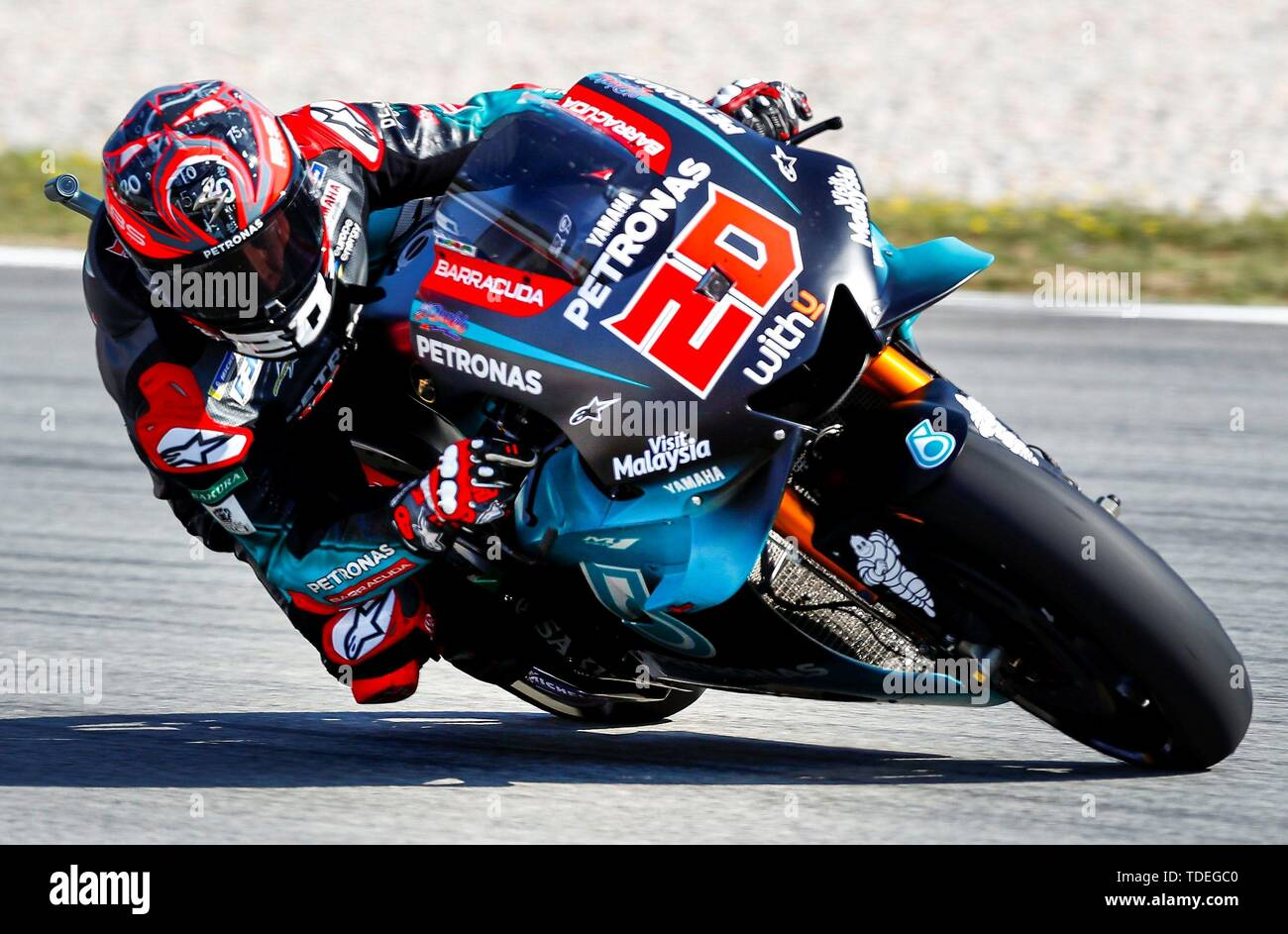 French Motogp Rider Fabio Quartararo Of The Petronas Yamaha Team Takes A Bend During The Third