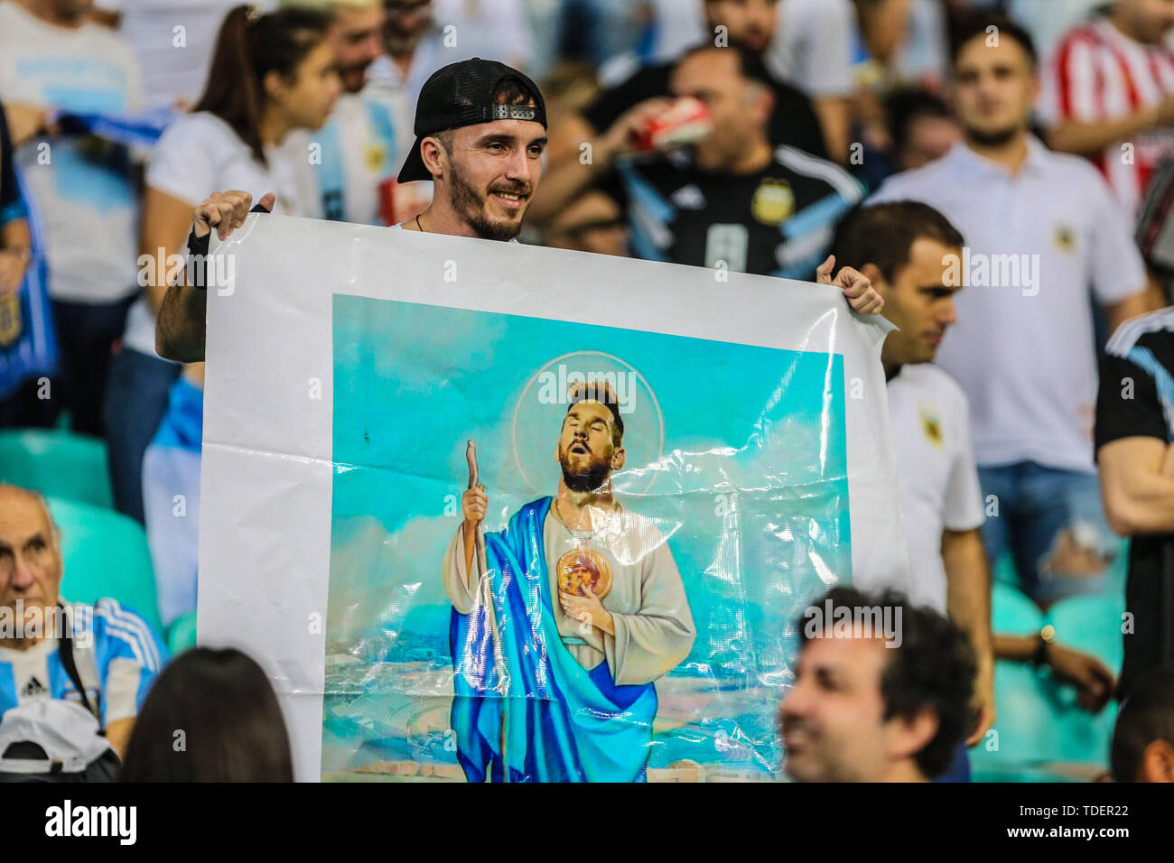 Salvador, Brazil. 15th June, 2019. Brazil. 15th June, 2019. Game of the match between Argentina X Colombia valid for Group B of Copa America 2019, in the Arena Fonte Nova, in Salvador, this Saturday (15). Credit: ZUMA Press, Inc./Alamy Live News Stock Photo