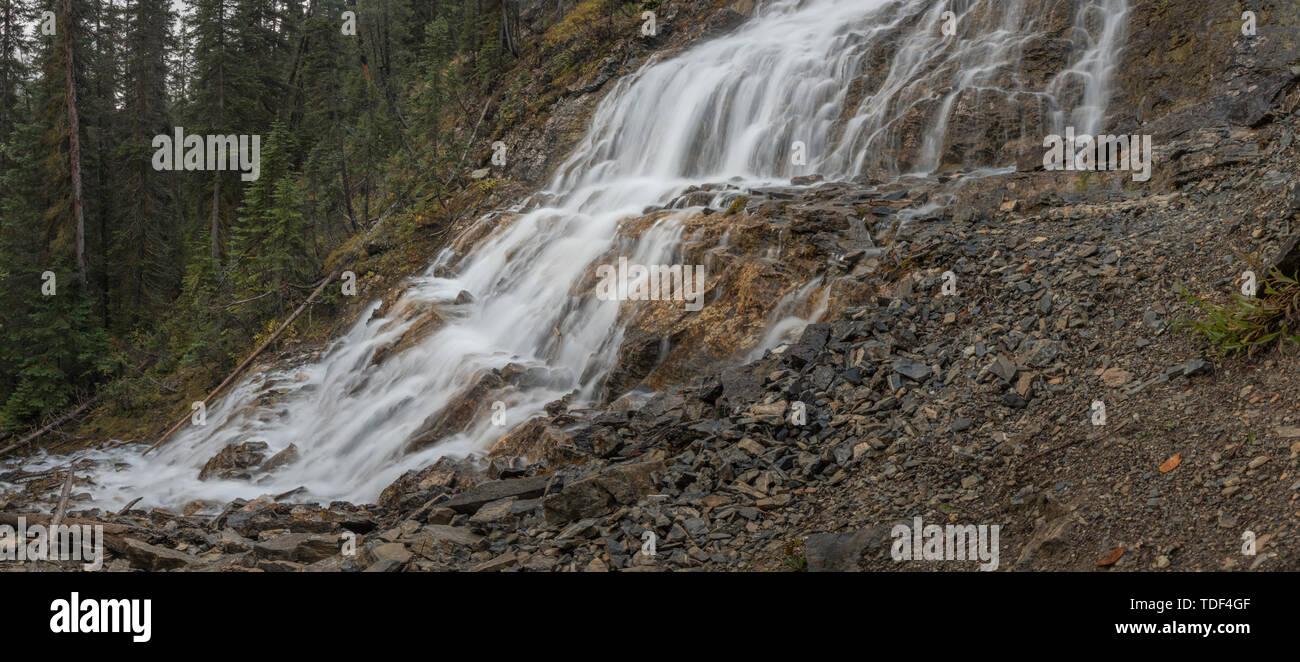 Waterfall, Point Lace Falls, Yoho Valley, Yoho Nationalpark, British Columbia, Canada Stock Photo