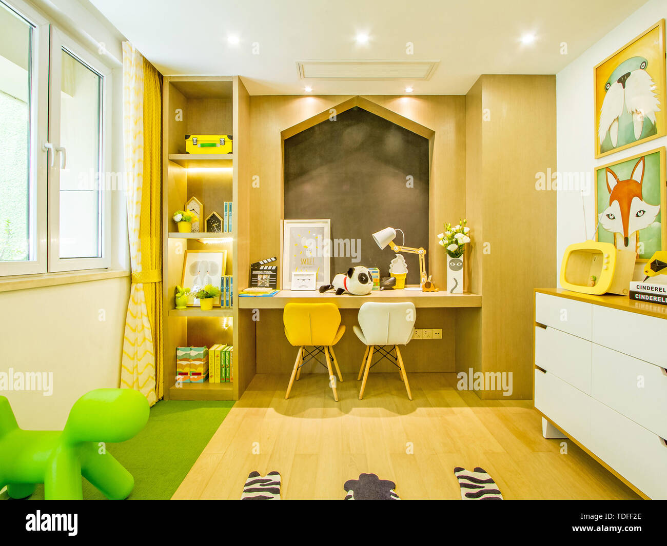 Study, bedroom, interior, interior design, decoration ...