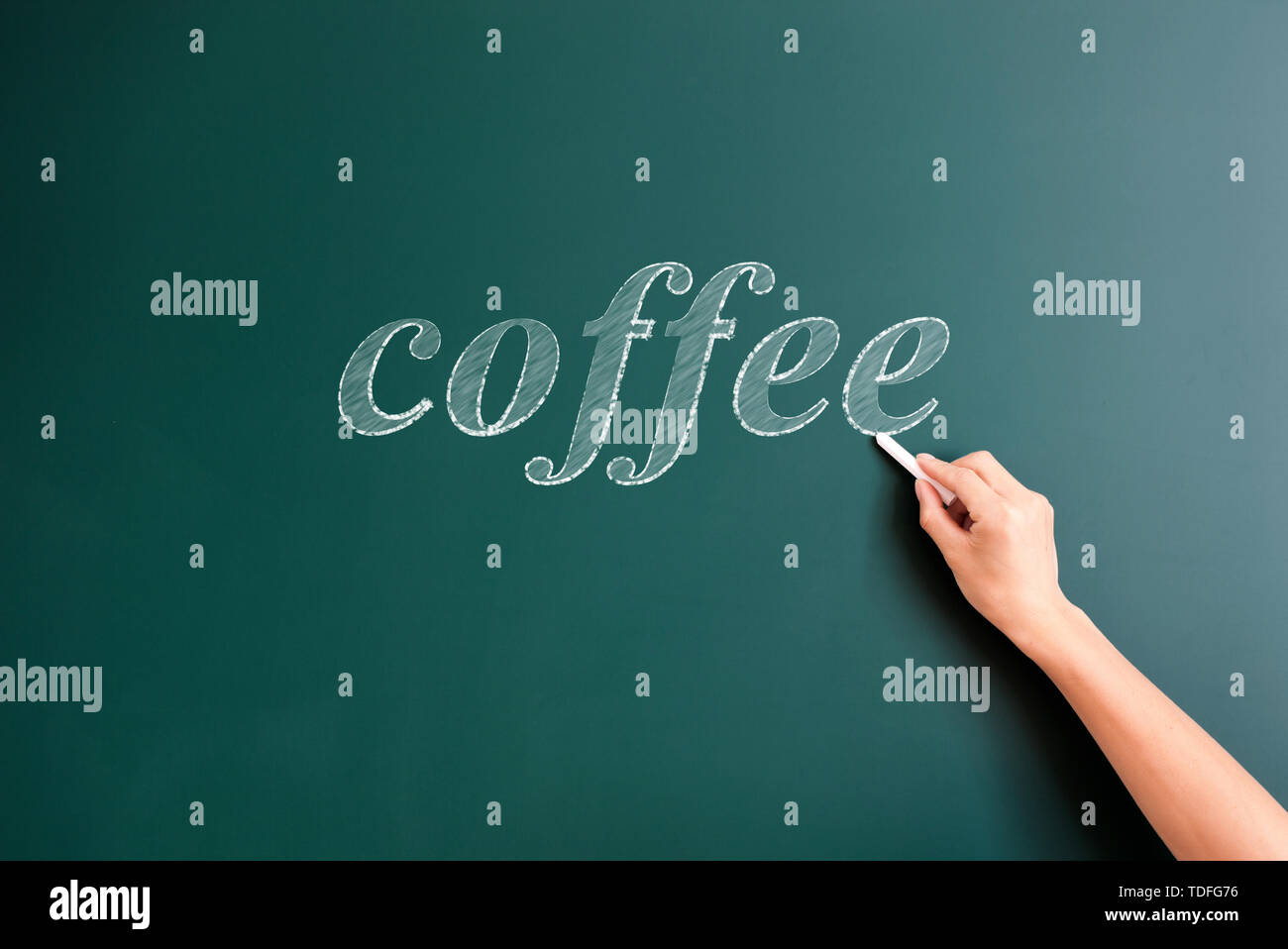 coffee,written on blackboard Stock Photo