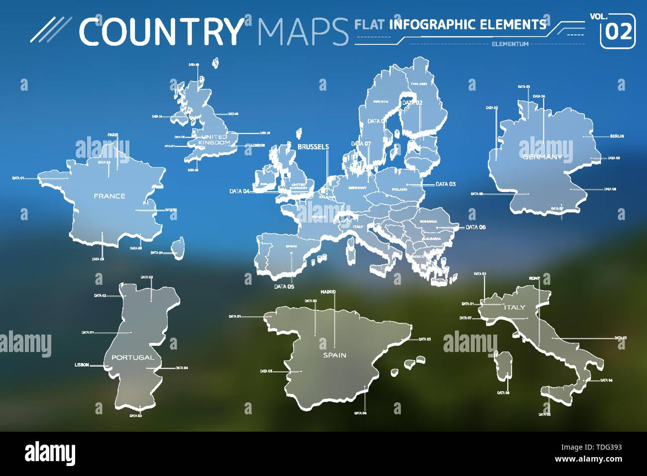 Map Of Spain Portugal And Italy.Europe United Kingdom France Portugal Spain Italy And Germany