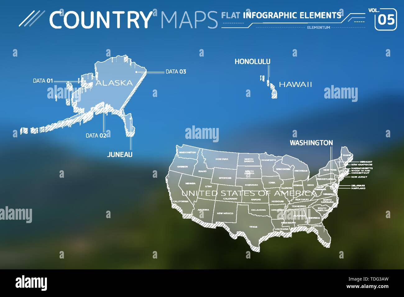 United States Map Alaska And Hawaii Stock Photos & United States Map on western states with capitol s, western rivers map of usa, western usa map with city, western region us, western region map with their names,