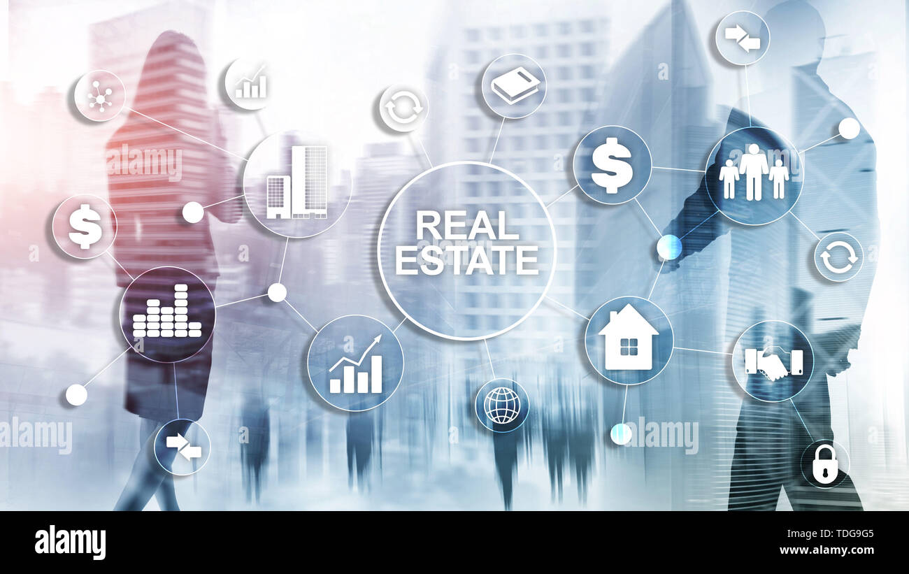 Real estate. Property insurance and security concept. Abstract business background. - Stock Image