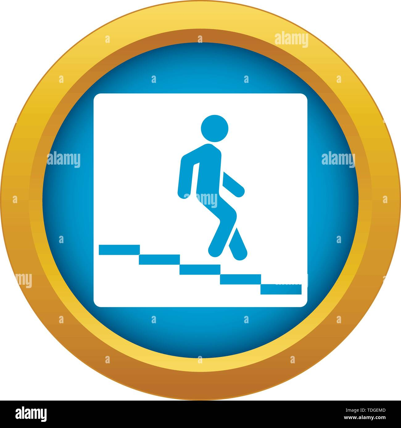 Underpass road sign icon blue vector isolated - Stock Vector