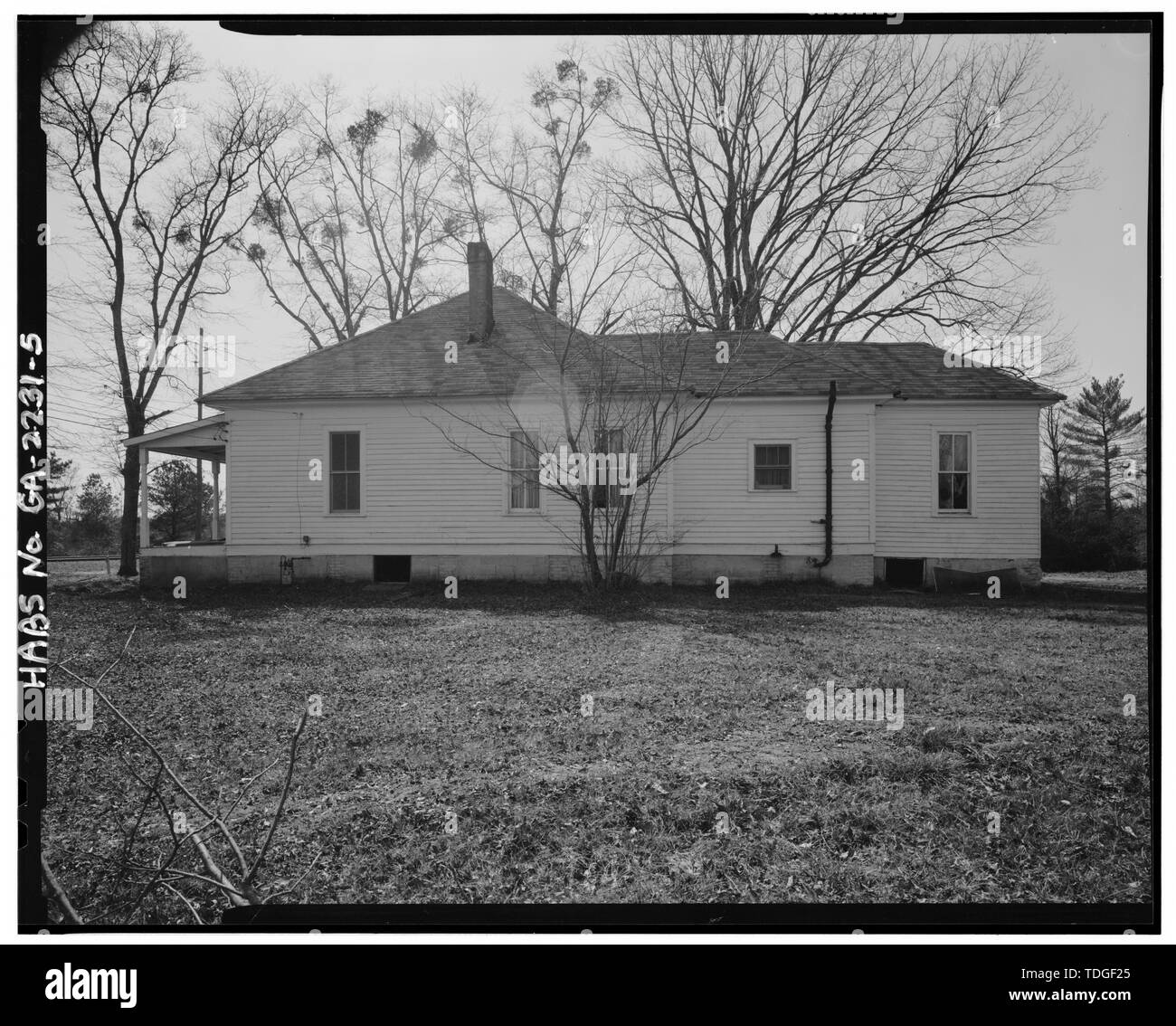 NORTHEAST SIDE. - Tatum House, 8101 Roosevelt Highway, Palmetto, Fulton County, GA - Stock Image