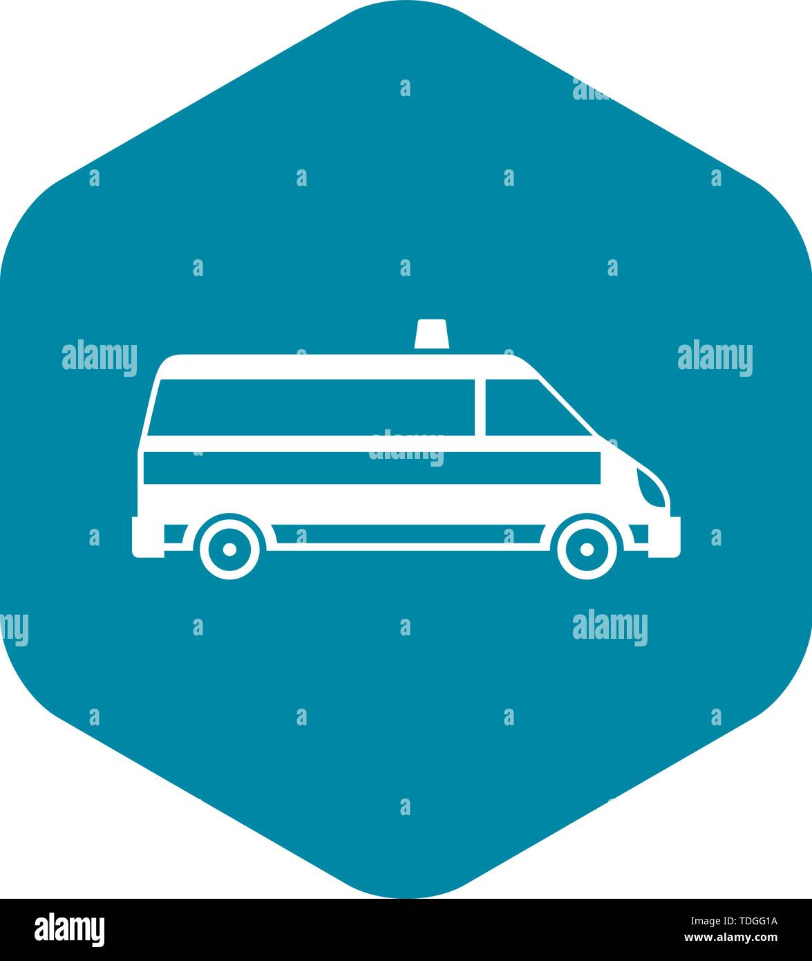 Ambulance car icon, simple style - Stock Image