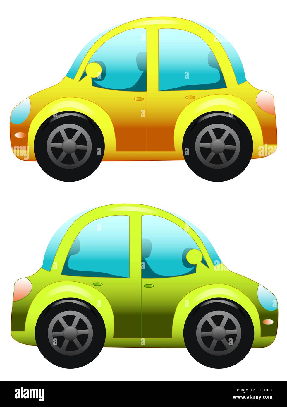 Illustration Of Cars Isolated On White Toy Car Cartoon Car Stock Vector Image Art Alamy