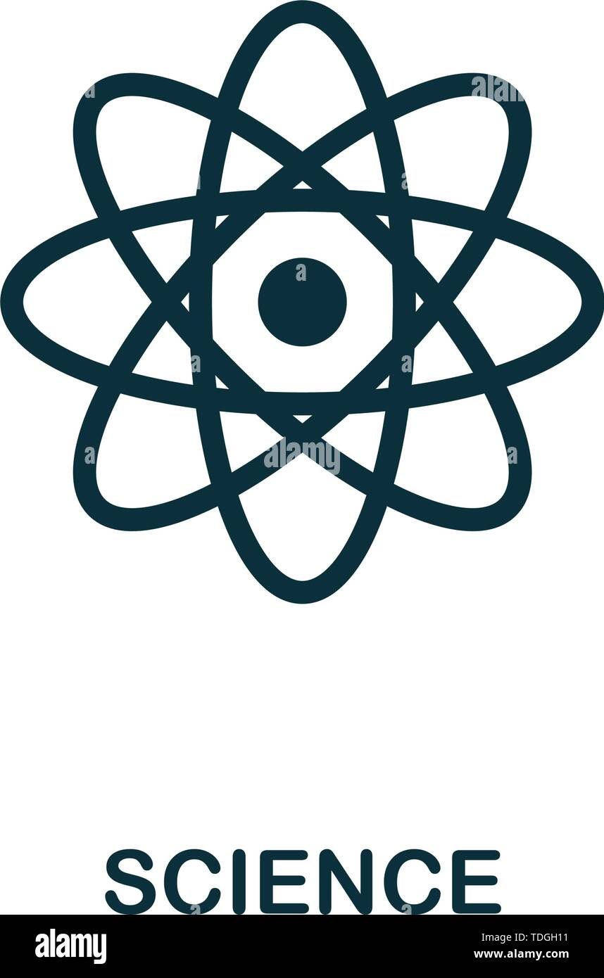 Science vector icon symbol. Creative sign from biotechnology icons collection. Filled flat Science icon for computer and mobile - Stock Vector