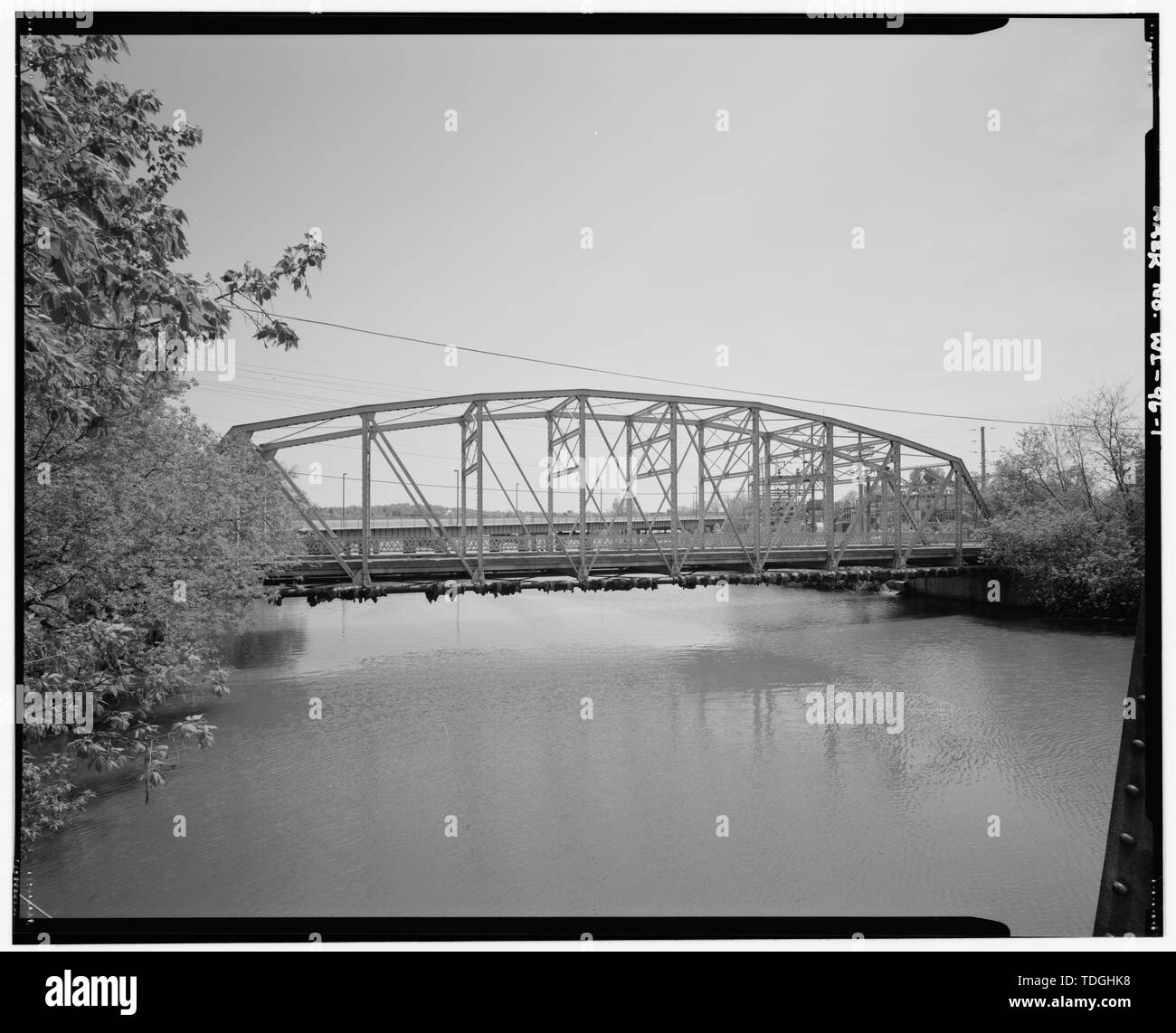 NORTHWEST SIDE, LOOKING SOUTH - Meadow Hill Drive Bridge, Spanning Wilson Creek, Menomonie, Dunn County, WI; Anderson, Al C - Stock Image