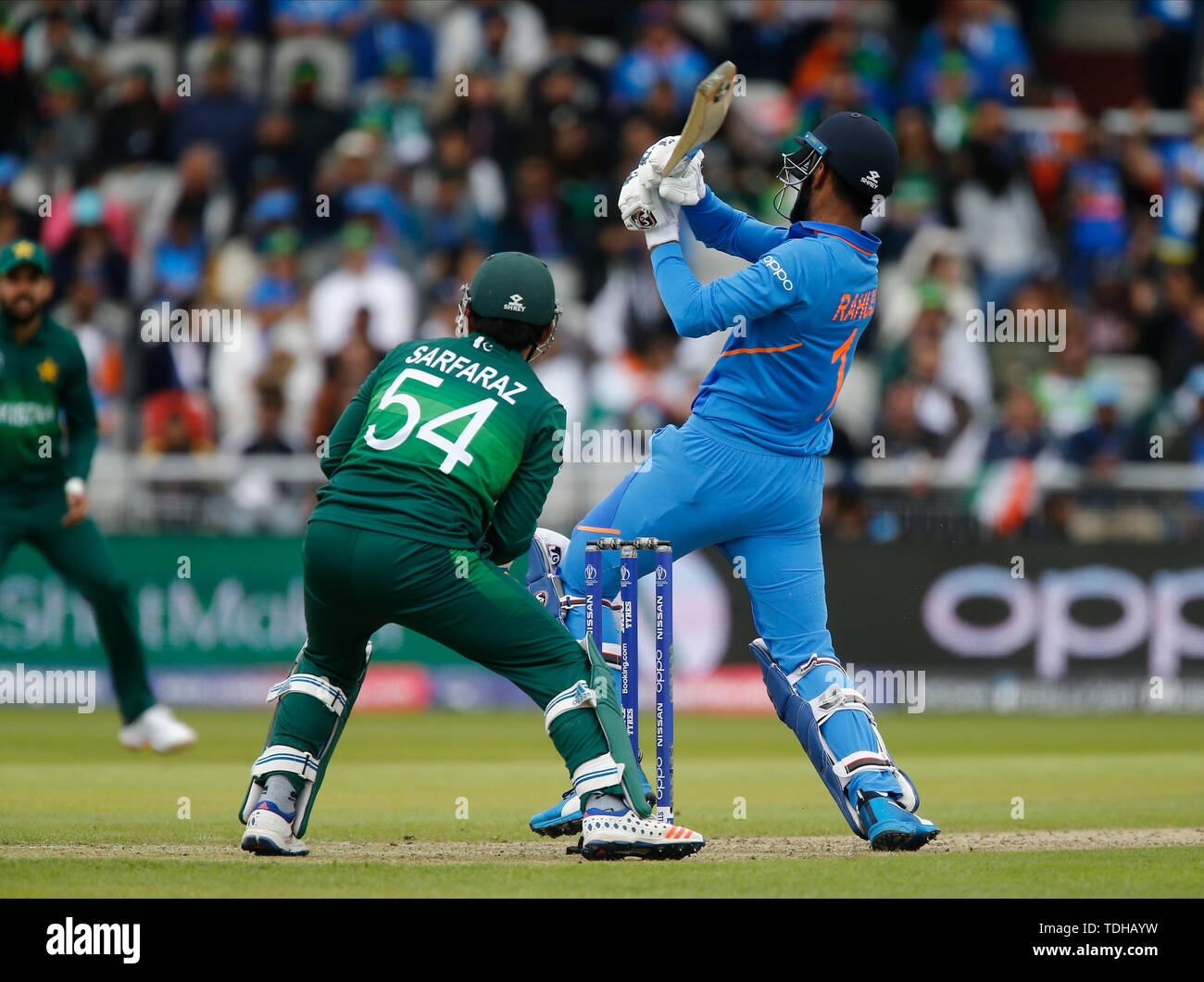 Old Trafford, Manchester, UK. 16th June, 2019. ICC World Cup Cricket, India versus Pakistan; KL Rahul of India brings up his half century Credit: Action Plus Sports/Alamy Live News - Stock Image