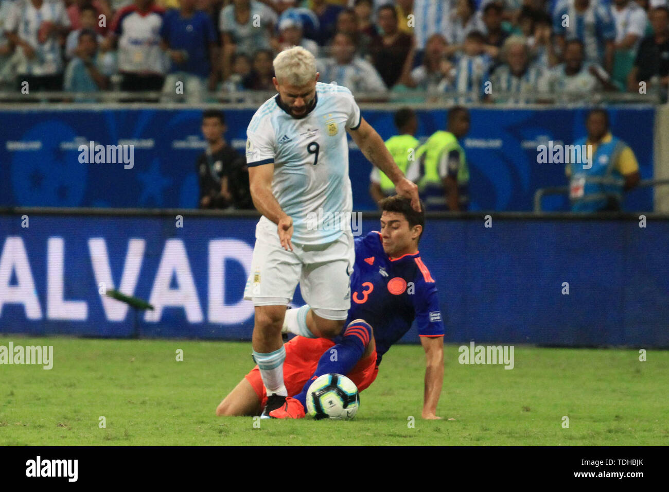 Salvador, Brazil. 15th June, 2019. during match between Argentina and Colombia, game 03, valid for the group phase of Copa America 2019, held this Saturday, 15, at the Arena Fonte Nova in Salvador, BA. Credit: Mauro Akiin Nassor/FotoArena/Alamy Live News - Stock Image