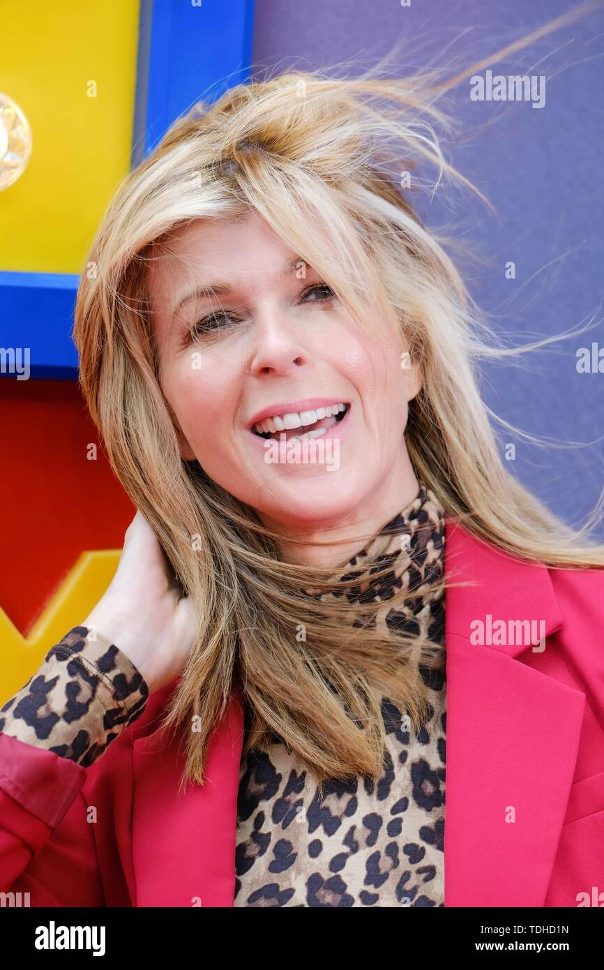 London, UK. 16th June 2019. Kate Garraway poses on the red carpet for the European premiere of Toy Story 4 held at the Odeon Luxe, Leicester Square, London on Sunday, Jun. 16, 2019 . Credit: Julie Edwards/Alamy Live News - Stock Image