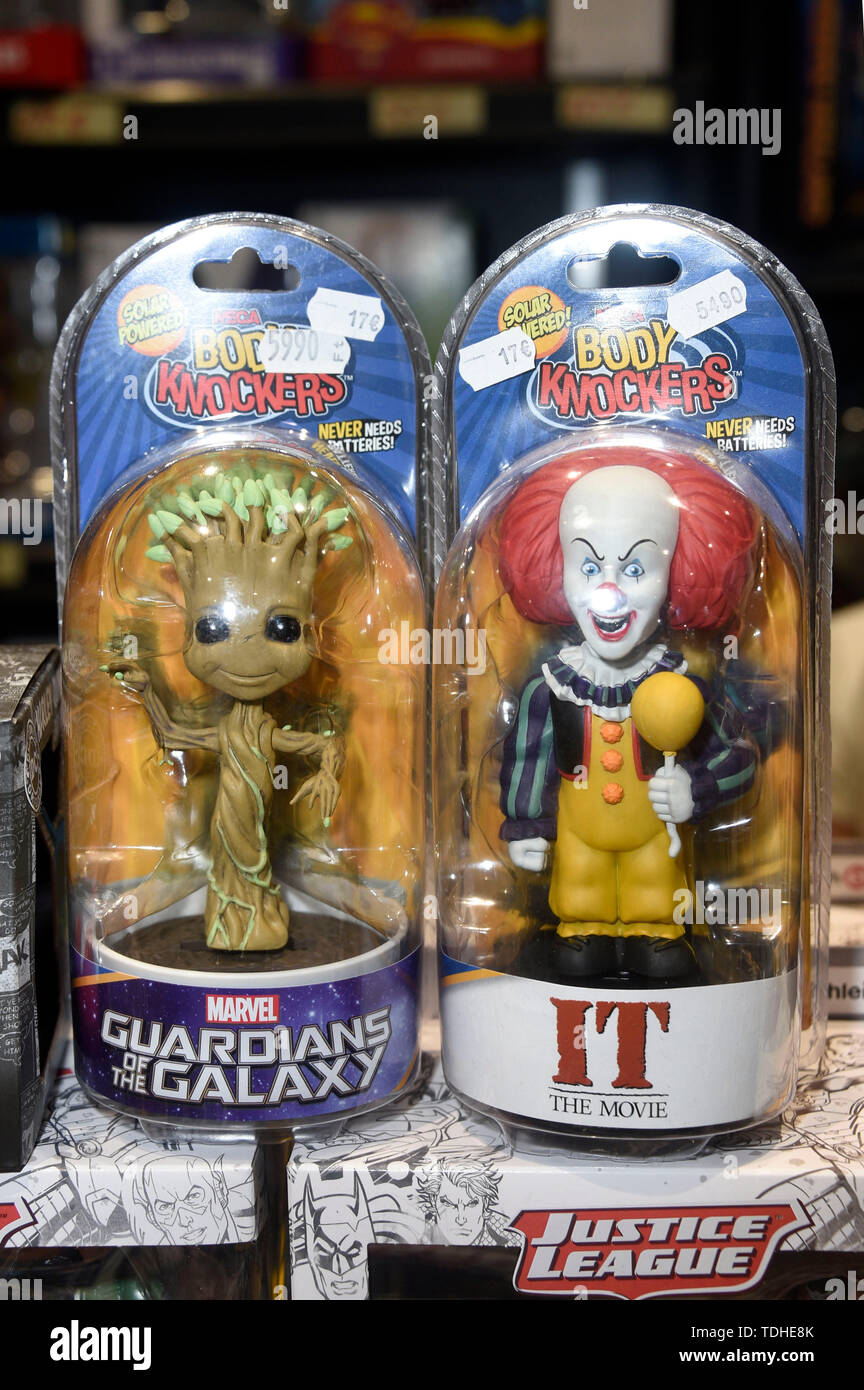 Groot and Pennywise Bodyknockers at the 3rd German Comic Con Munchen in Zenith. Munich, 15.06.2019 | usage worldwide - Stock Image