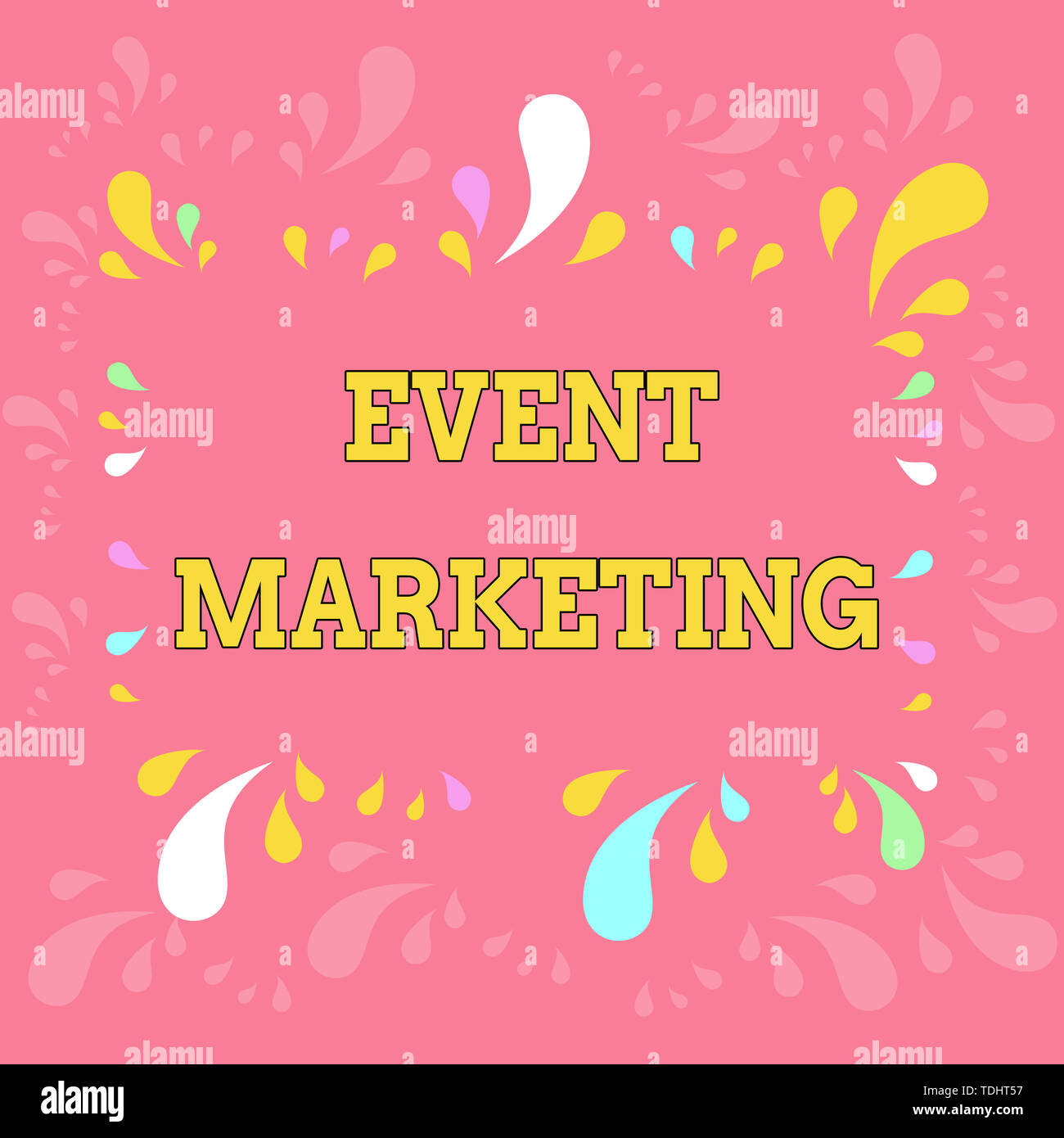 Word writing text Event Marketing. Business photo showcasing describes process of developing display to promote product Copy Space Frame with Differen - Stock Image