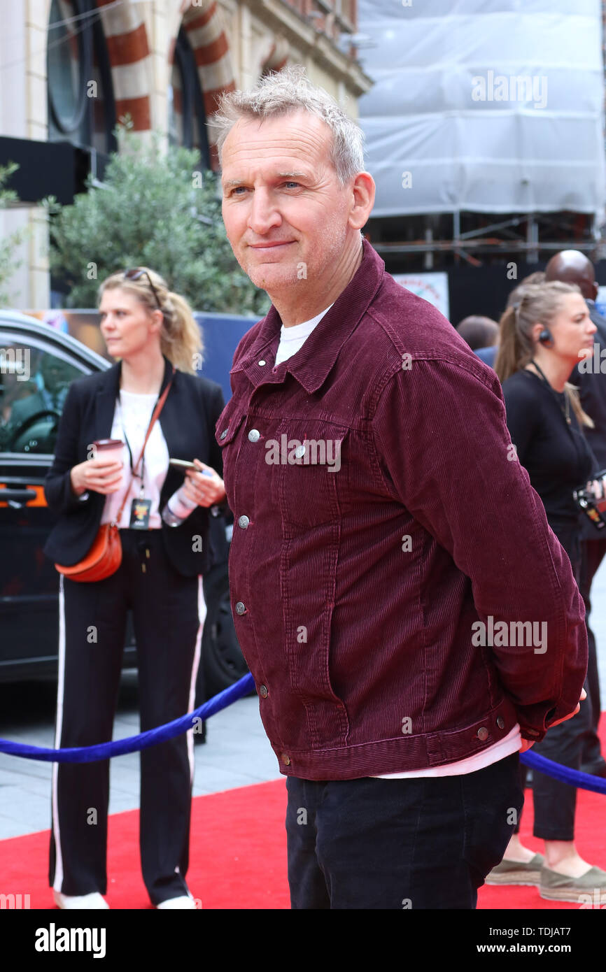 Christopher Eccleston, Toy Story 4 - European Premiere, Leicester Square, London, UK, 16 June 2019, Photo by Richard Goldschmidt - Stock Image