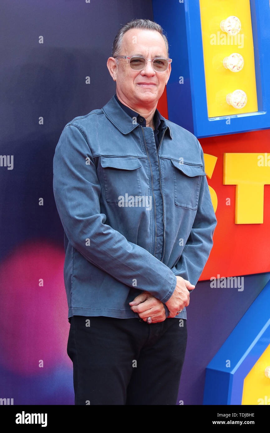 Tom Hanks, Toy Story 4 - European Premiere, Leicester Square, London, UK, 16 June 2019, Photo by Richard Goldschmidt - Stock Image