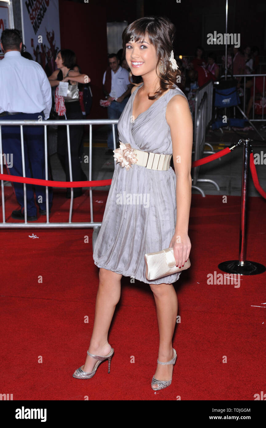 LOS ANGELES, CA. October 16, 2008: Nicole Gale Anderson at the Los Angeles premiere of 'High School Musical 3: Senior Year' at the Galen Centre, Los Angeles. ©2008 Paul Smith / Featureflash - Stock Image
