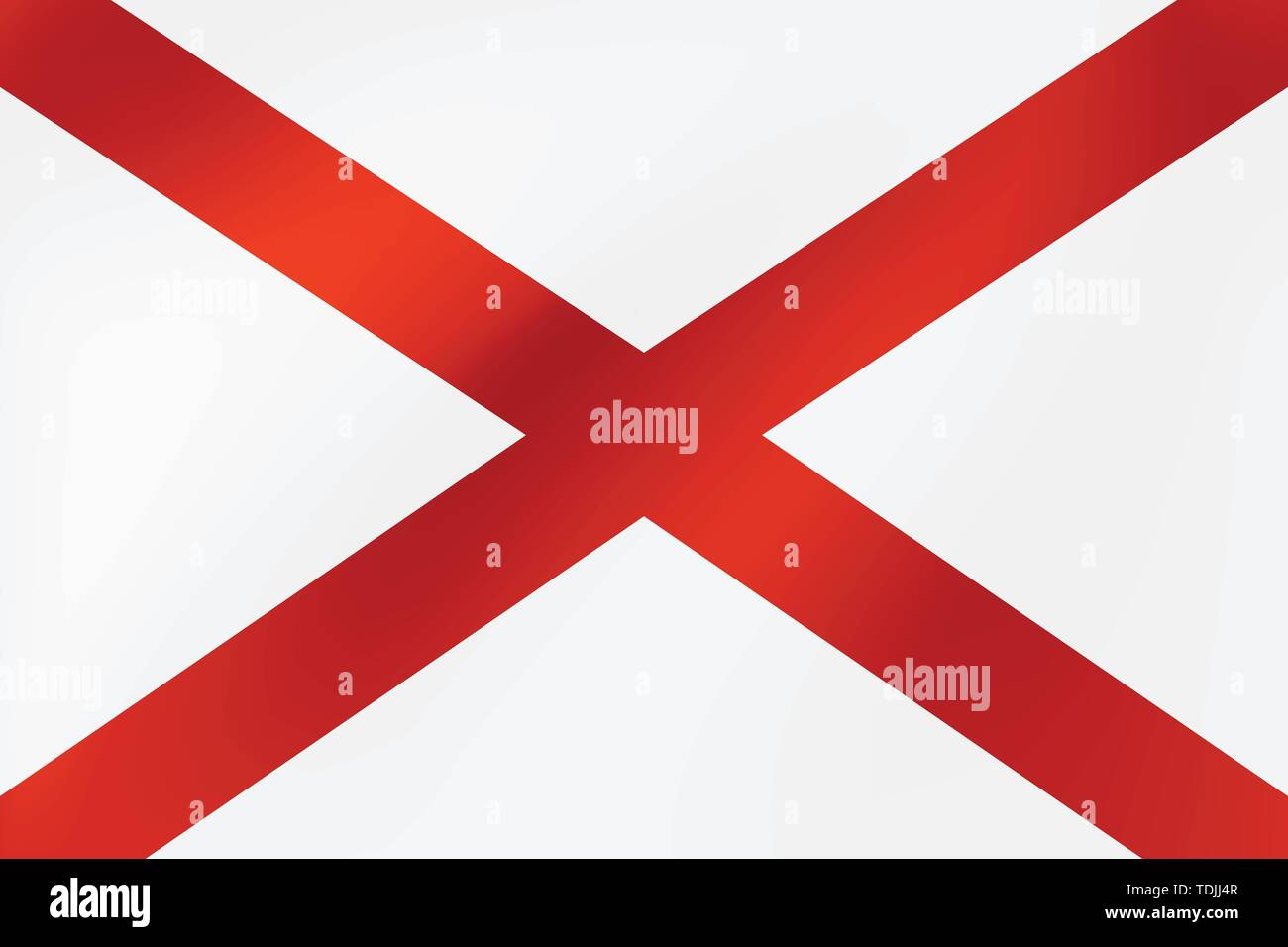 National Flag of Northern Ireland. Vector illustration for holidays and other events. - Stock Image