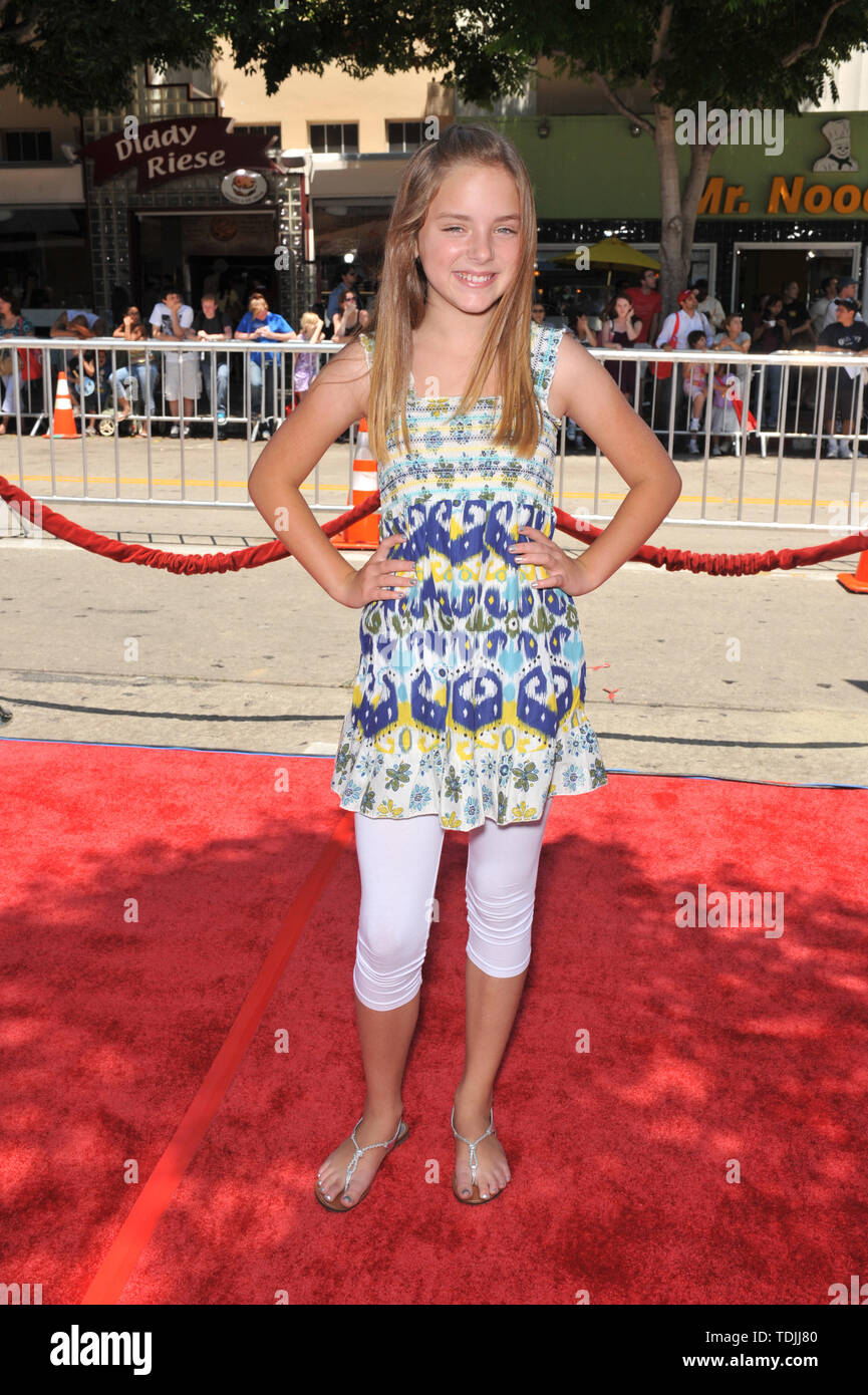 LOS ANGELES, CA. June 29, 2008: Madison Davenport at the world premiere of 'Journey to the Center of the Earth' at the Mann Village Theatre, Westwood. © 2008 Paul Smith / Featureflash - Stock Image